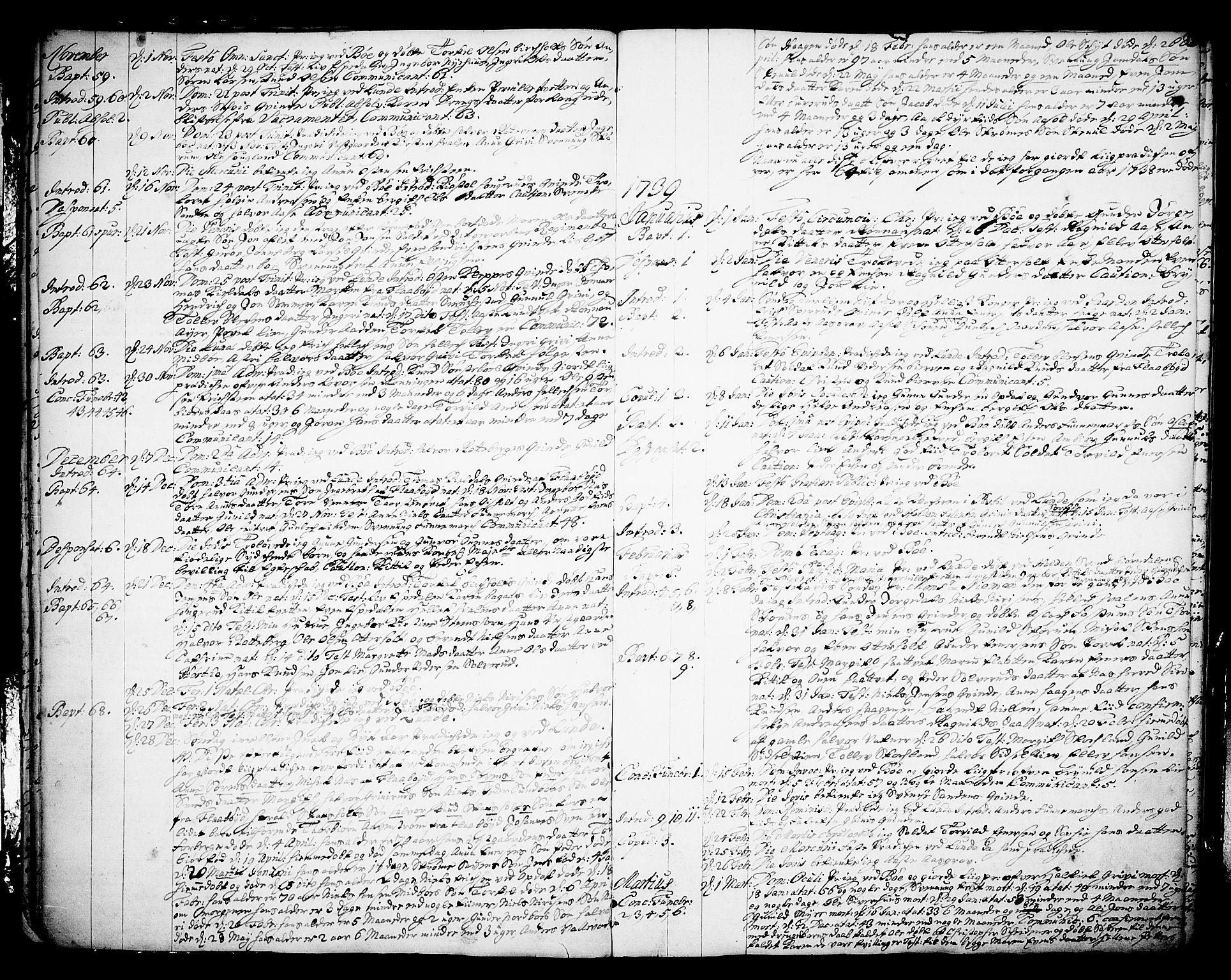 SAKO, Bø kirkebøker, F/Fa/L0003: Ministerialbok nr. 3, 1733-1748, s. 15
