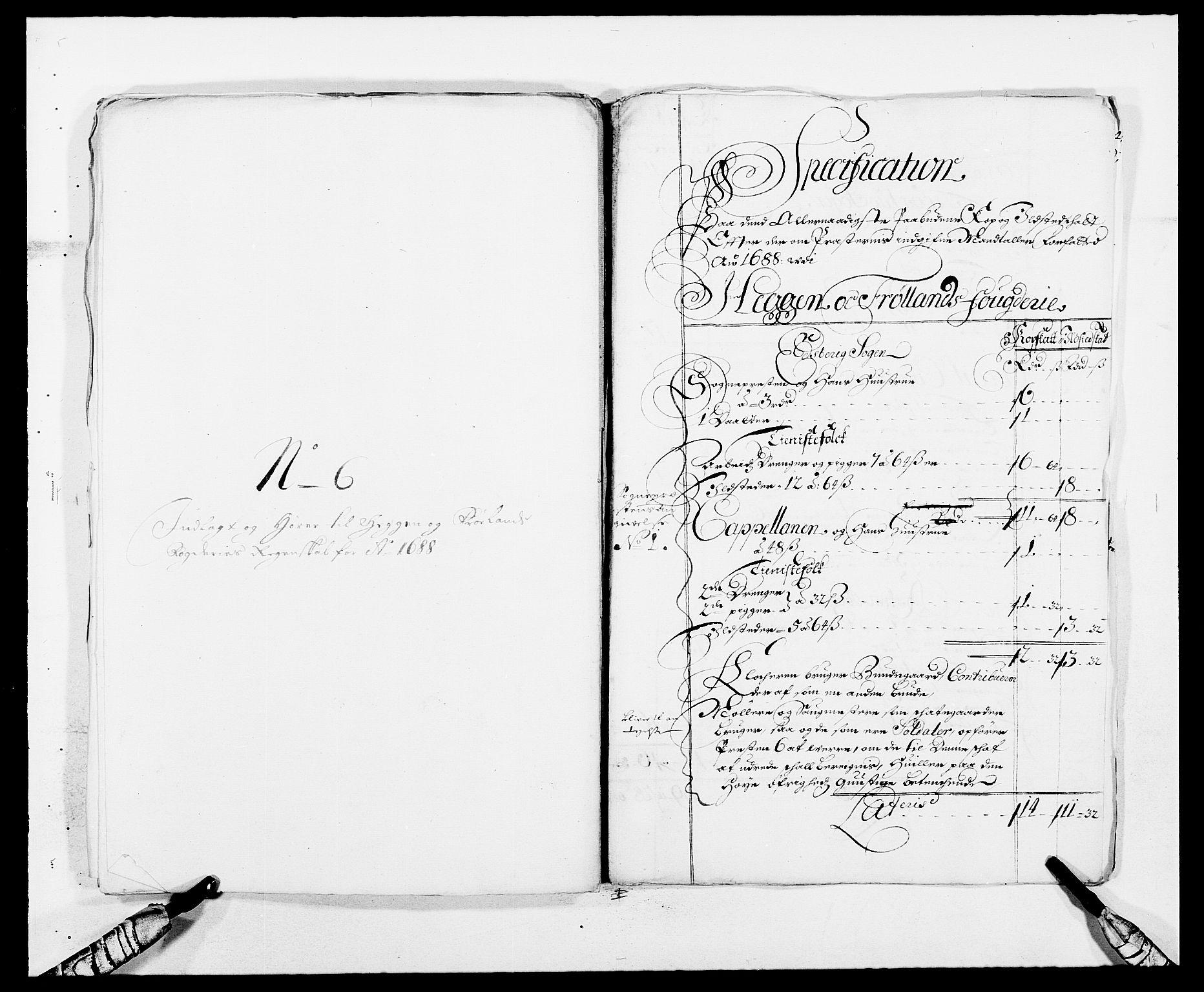 RA, Rentekammeret inntil 1814, Reviderte regnskaper, Fogderegnskap, R06/L0282: Fogderegnskap Heggen og Frøland, 1687-1690, s. 104