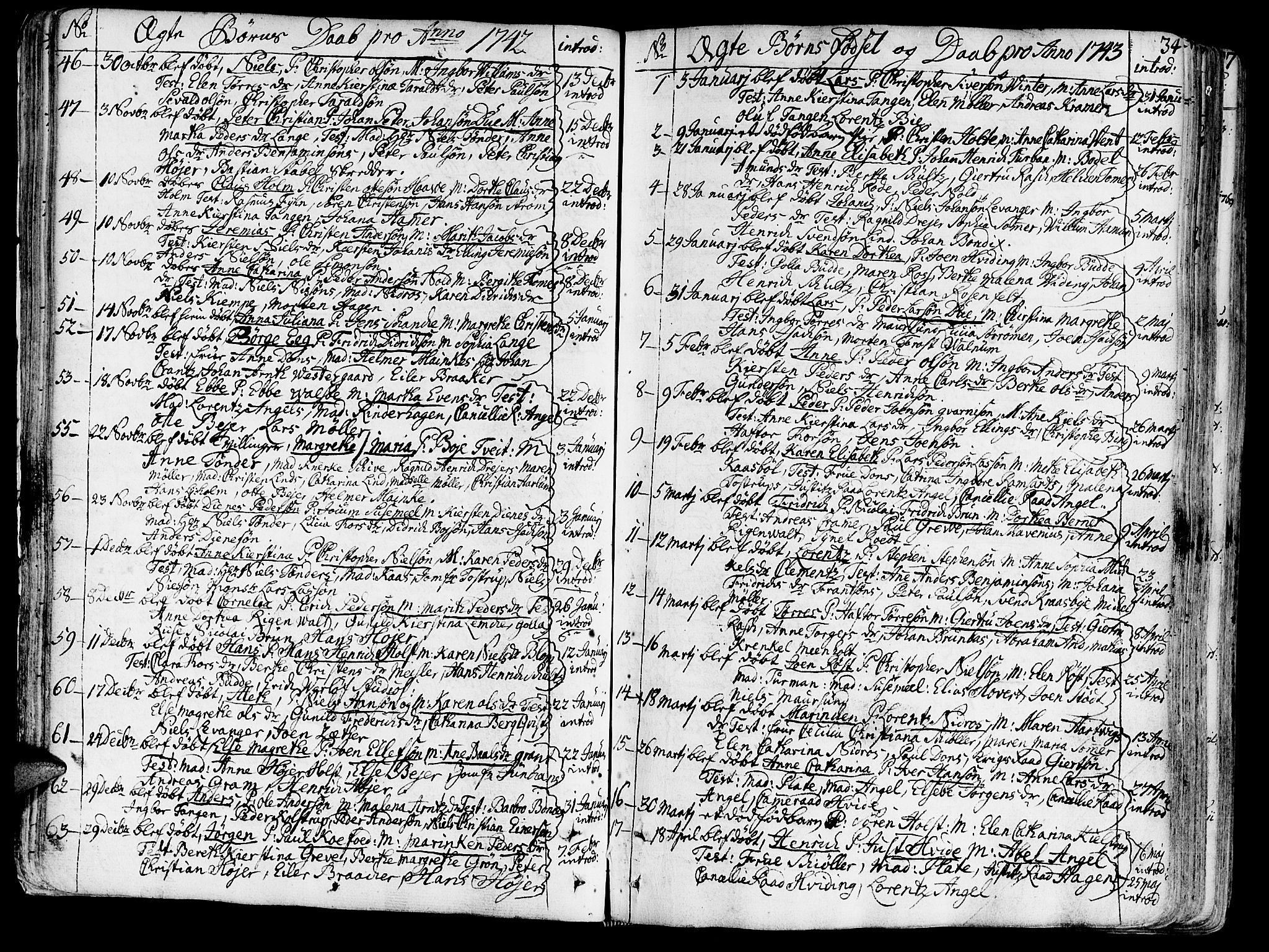 SAT, Ministerialprotokoller, klokkerbøker og fødselsregistre - Sør-Trøndelag, 602/L0103: Ministerialbok nr. 602A01, 1732-1774, s. 34