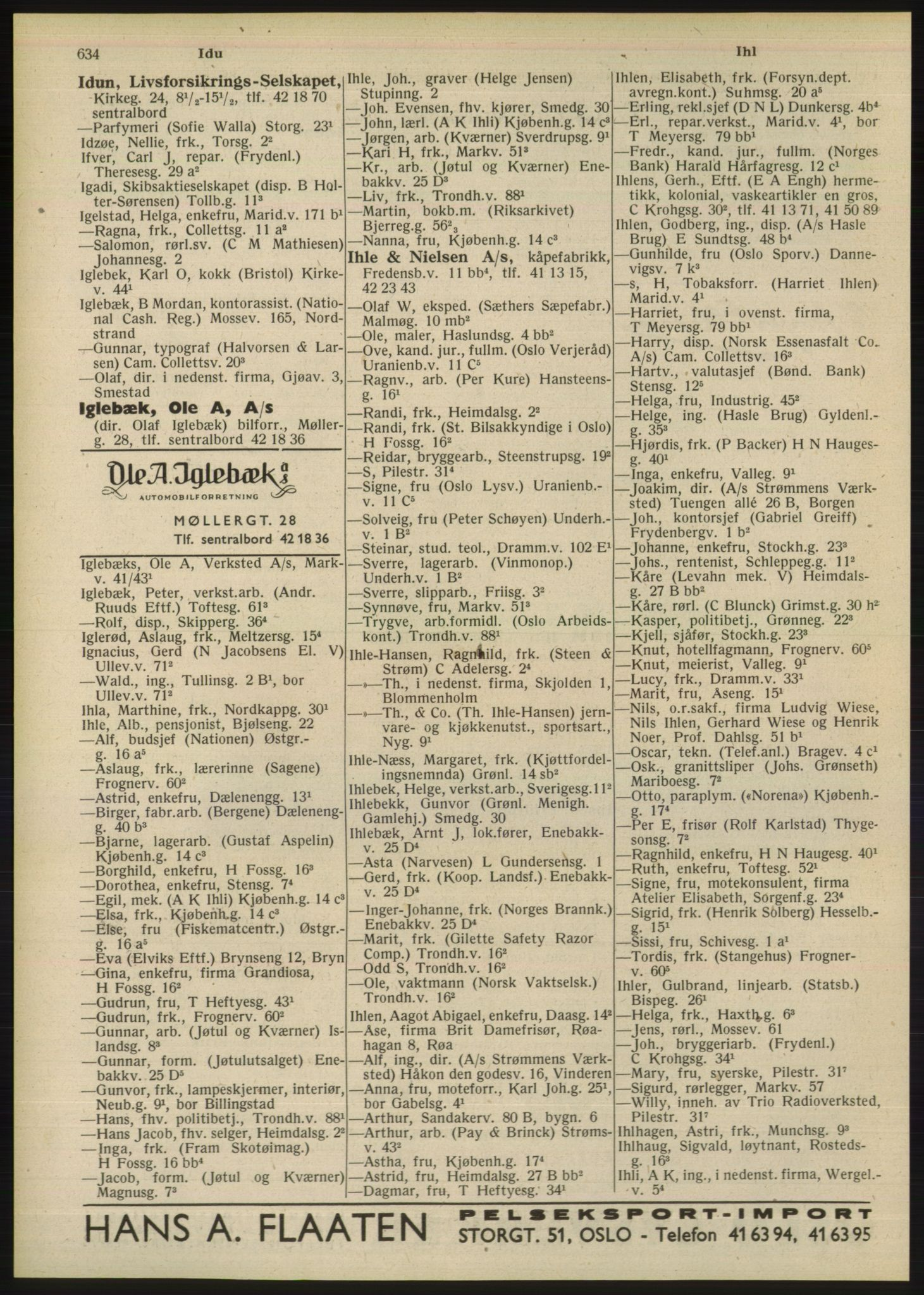 PUBL, Kristiania/Oslo adressebok, 1948, s. 634