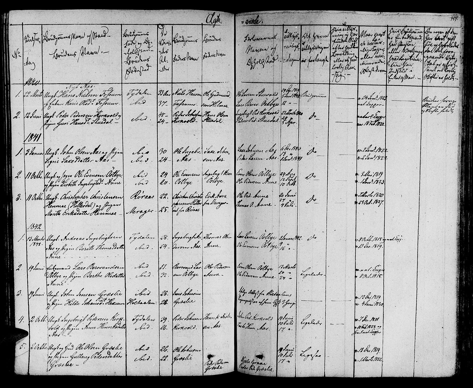 SAT, Ministerialprotokoller, klokkerbøker og fødselsregistre - Sør-Trøndelag, 695/L1144: Ministerialbok nr. 695A05 /2, 1824-1842, s. 359