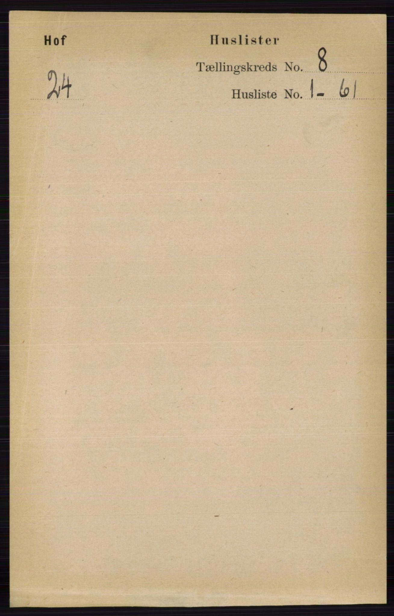 RA, Folketelling 1891 for 0424 Hof herred, 1891, s. 3144