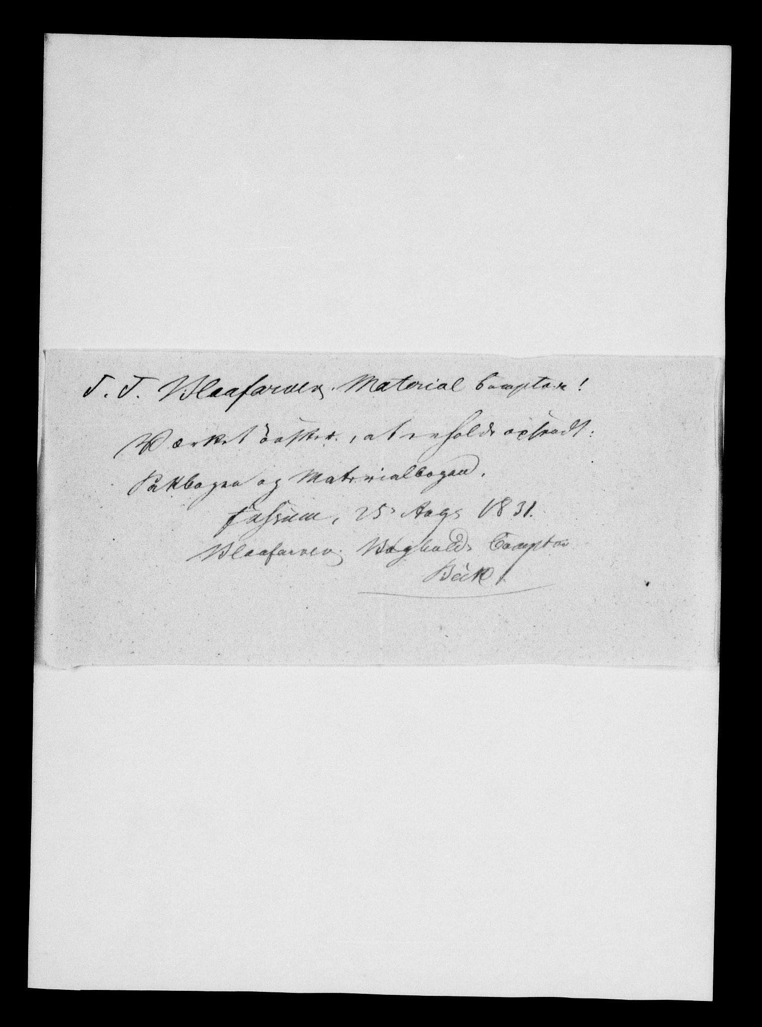 RA, Modums Blaafarveværk, G/Gd/Gdb/L0198: Annotations Bog, Dagbok over inn- og utgående materiale, 1828-1831, s. 2