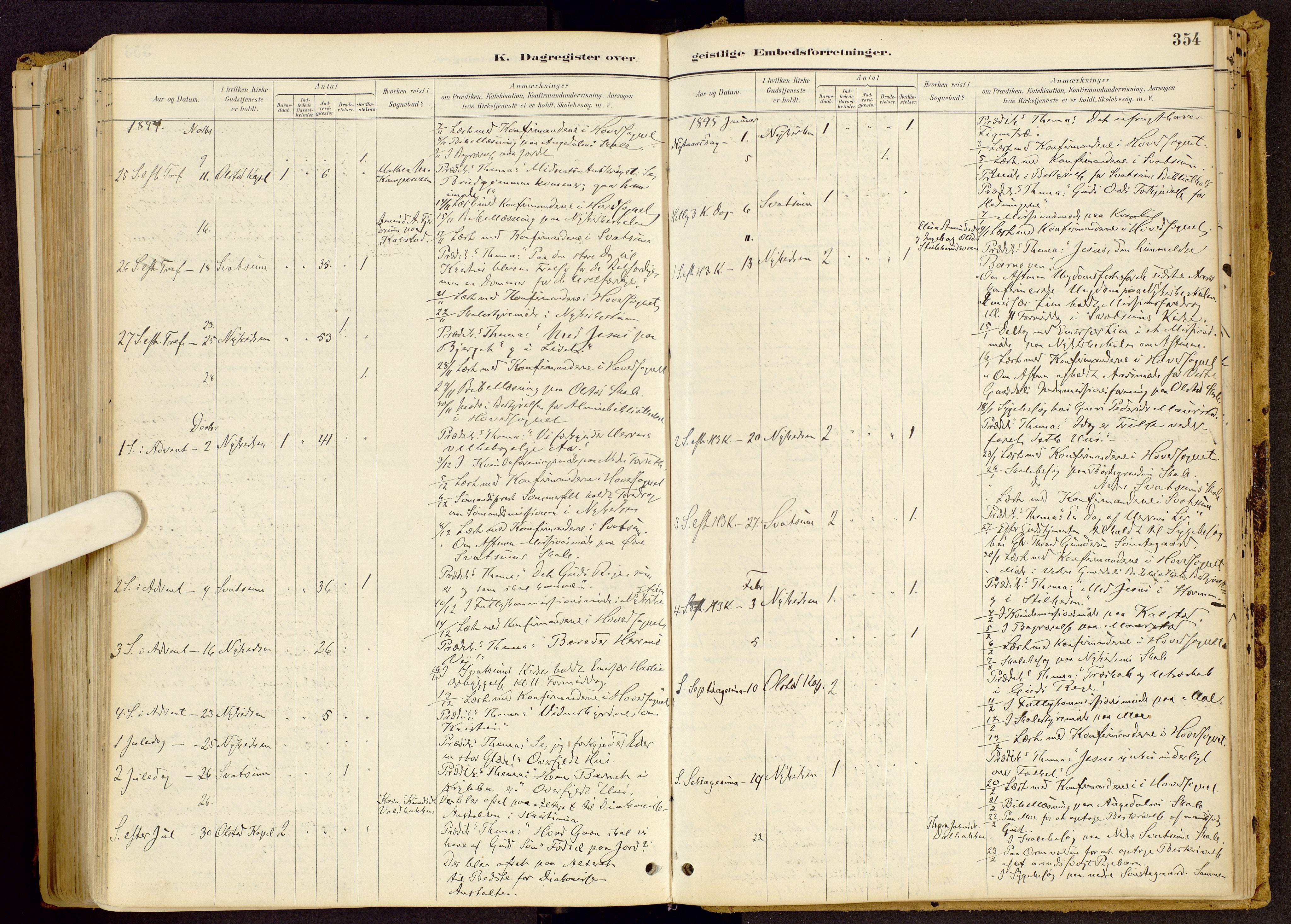 SAH, Vestre Gausdal prestekontor, Ministerialbok nr. 1, 1887-1914, s. 354