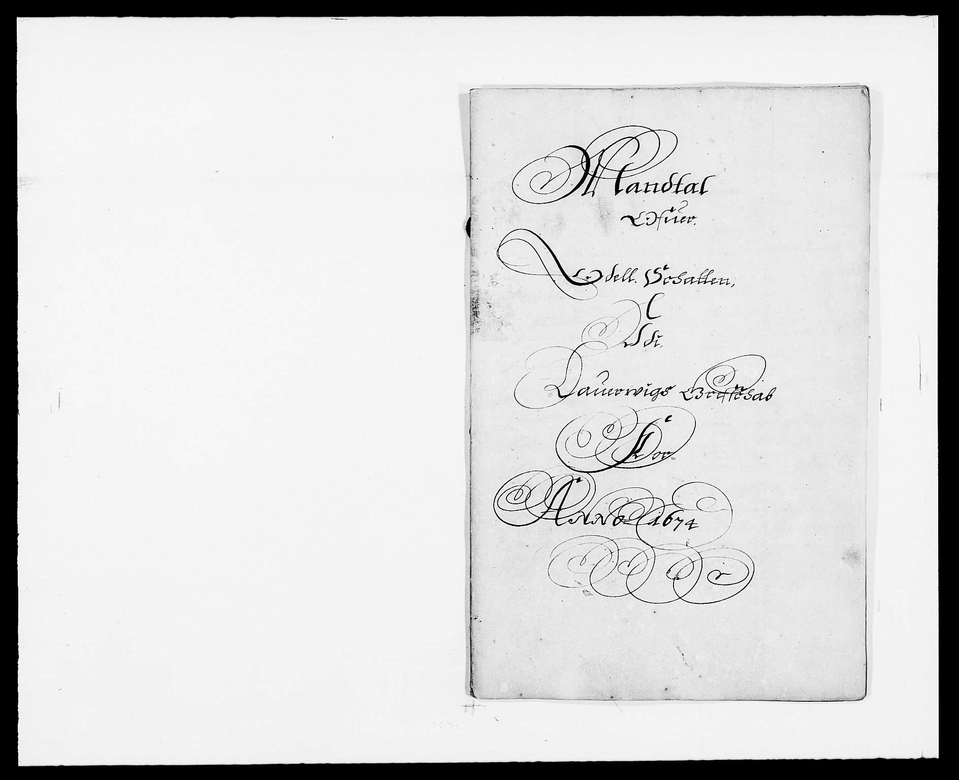 RA, Rentekammeret inntil 1814, Reviderte regnskaper, Fogderegnskap, R33/L1966: Fogderegnskap Larvik grevskap, 1672-1674, s. 227