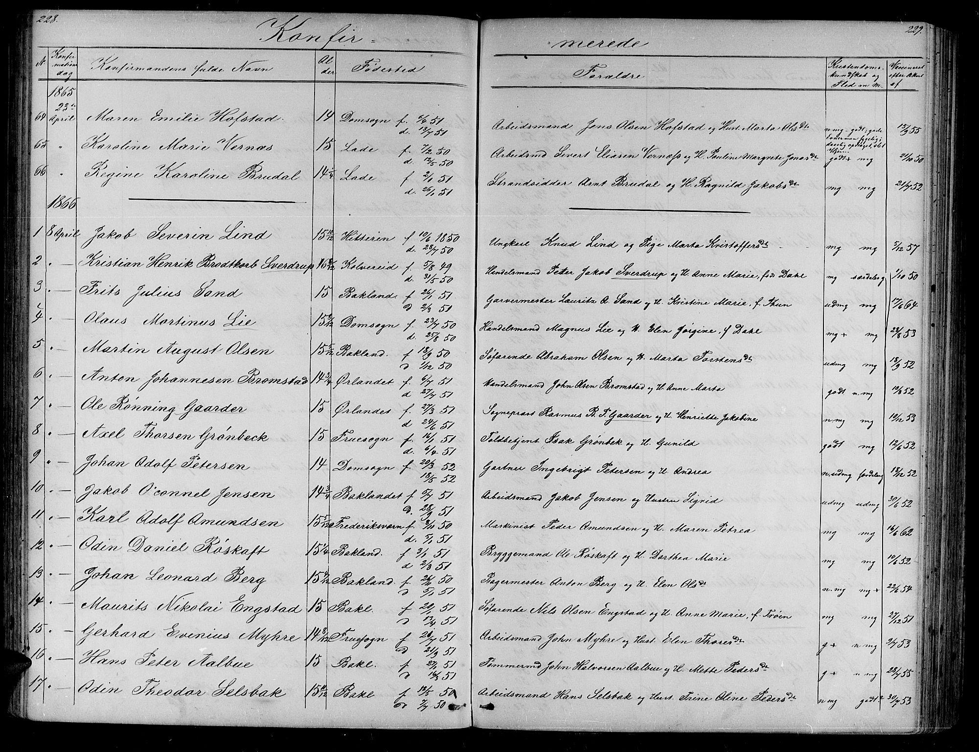 SAT, Ministerialprotokoller, klokkerbøker og fødselsregistre - Sør-Trøndelag, 604/L0219: Klokkerbok nr. 604C02, 1851-1869, s. 228-229