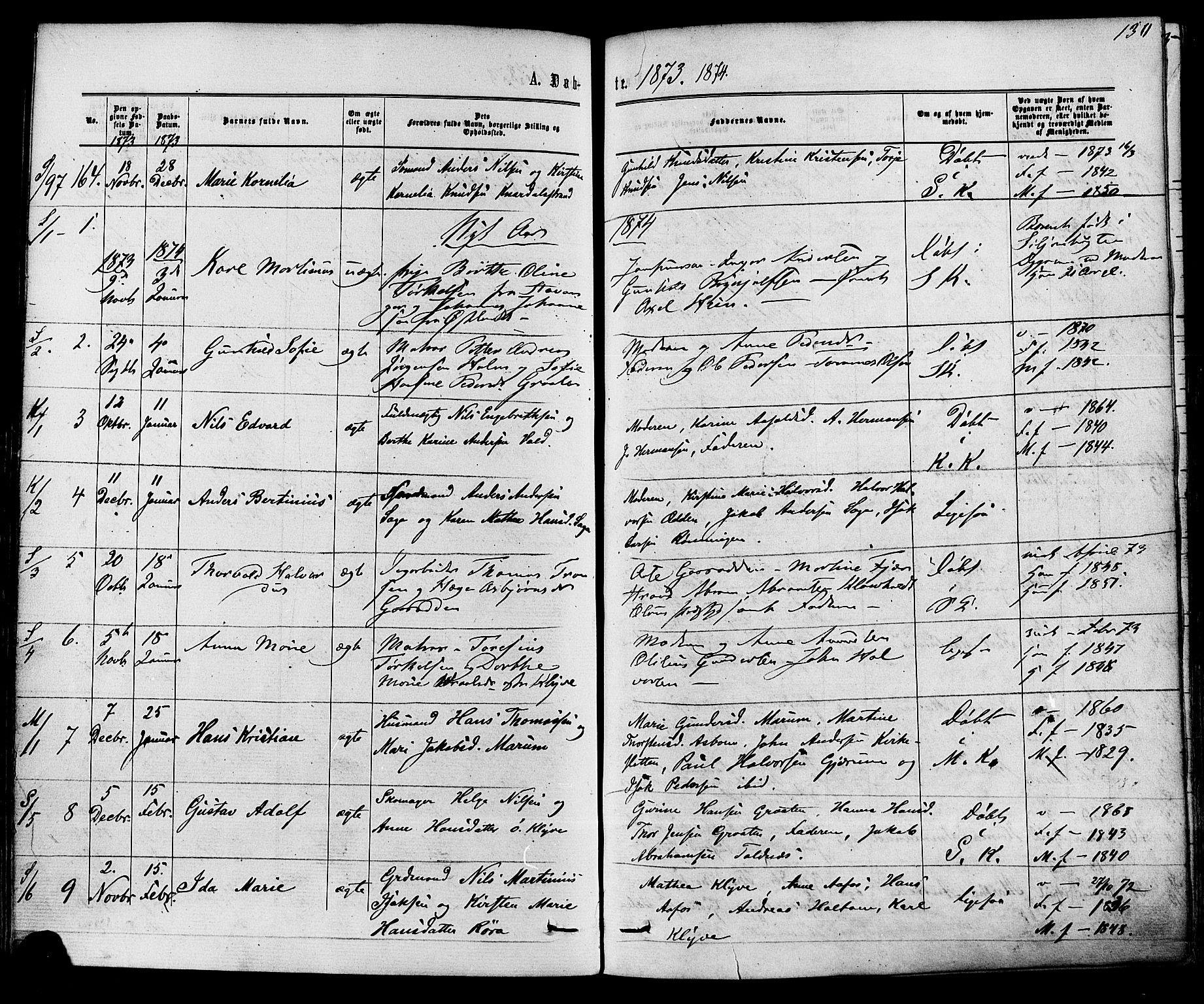 SAKO, Solum kirkebøker, F/Fa/L0008: Ministerialbok nr. I 8, 1865-1876, s. 130