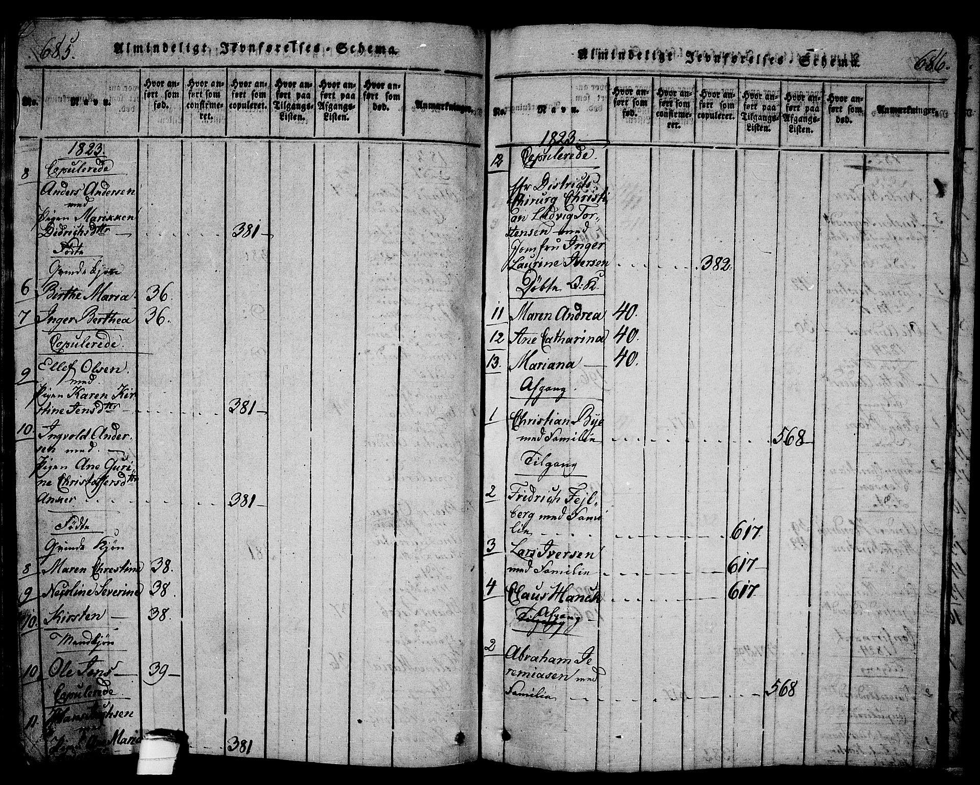 SAKO, Langesund kirkebøker, G/Ga/L0003: Klokkerbok nr. 3, 1815-1858, s. 685-686
