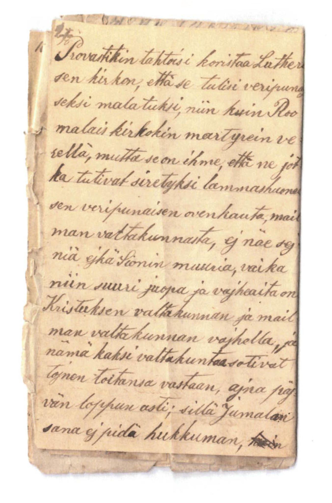 FMFB, Elise Balos brevsamling, F/Fa/L0001: Brev fra J. Raattamaa til K.P.Knuuti , 1873