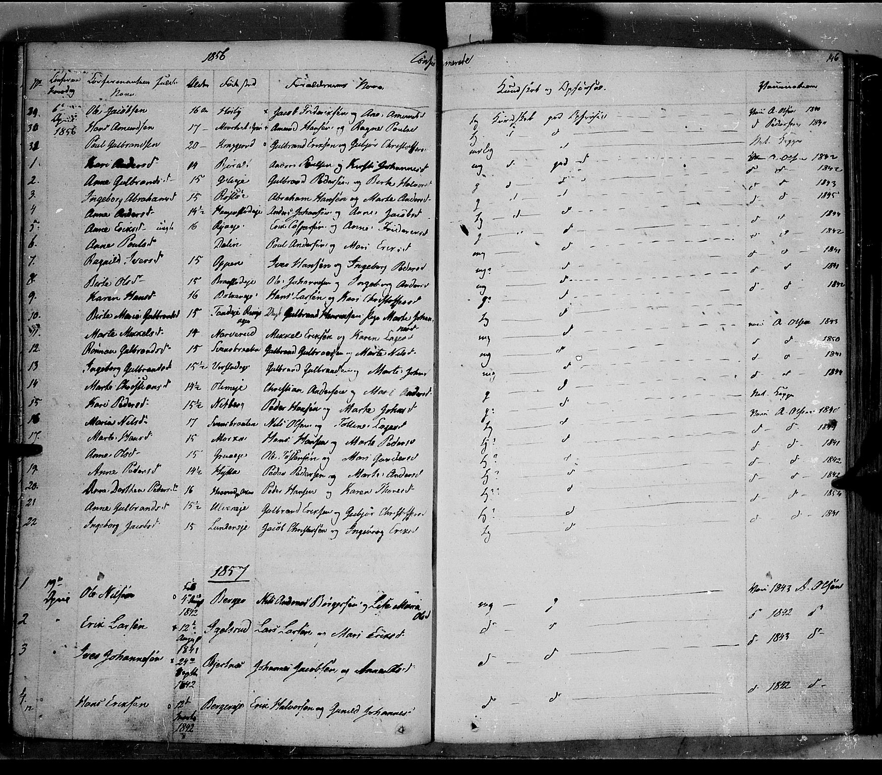 SAH, Jevnaker prestekontor, Ministerialbok nr. 6, 1837-1857, s. 146