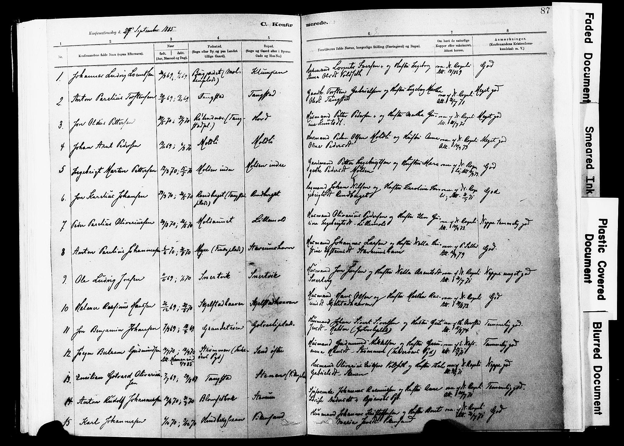 SAT, Ministerialprotokoller, klokkerbøker og fødselsregistre - Nord-Trøndelag, 744/L0420: Ministerialbok nr. 744A04, 1882-1904, s. 87