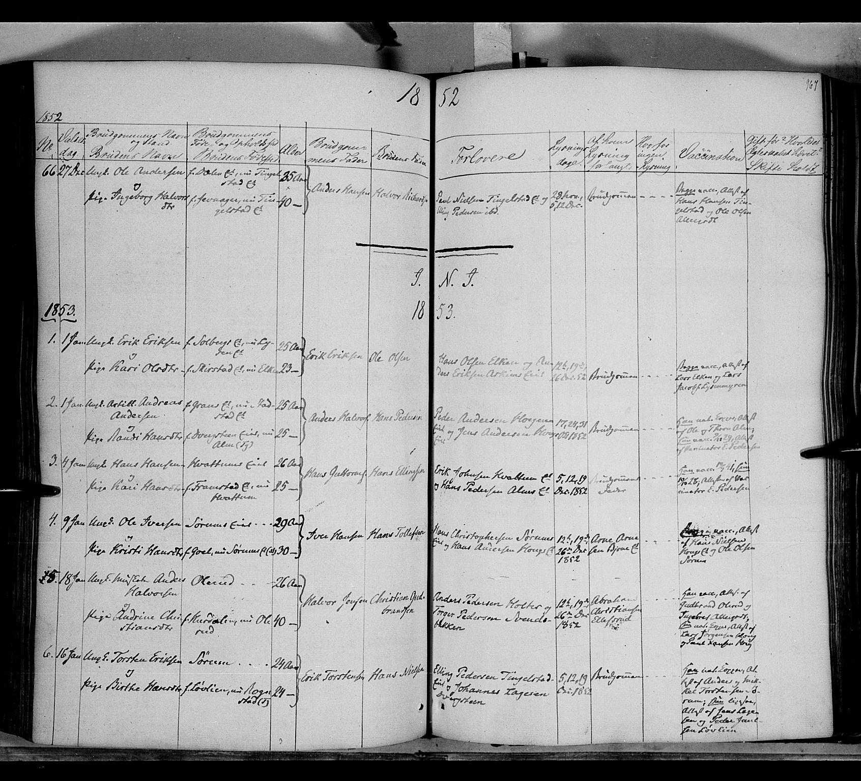 SAH, Gran prestekontor, Ministerialbok nr. 11, 1842-1856, s. 966-967