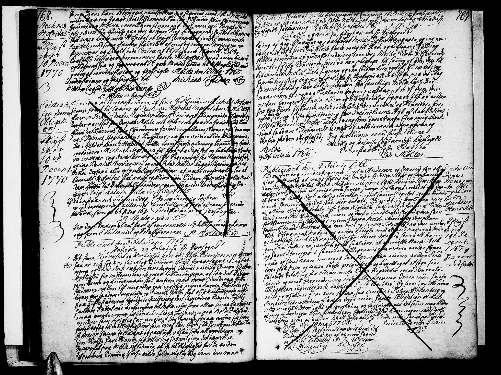 SAT, Molde byfogd, 2C/L0001: Pantebok nr. 1, 1748-1823, s. 168-169
