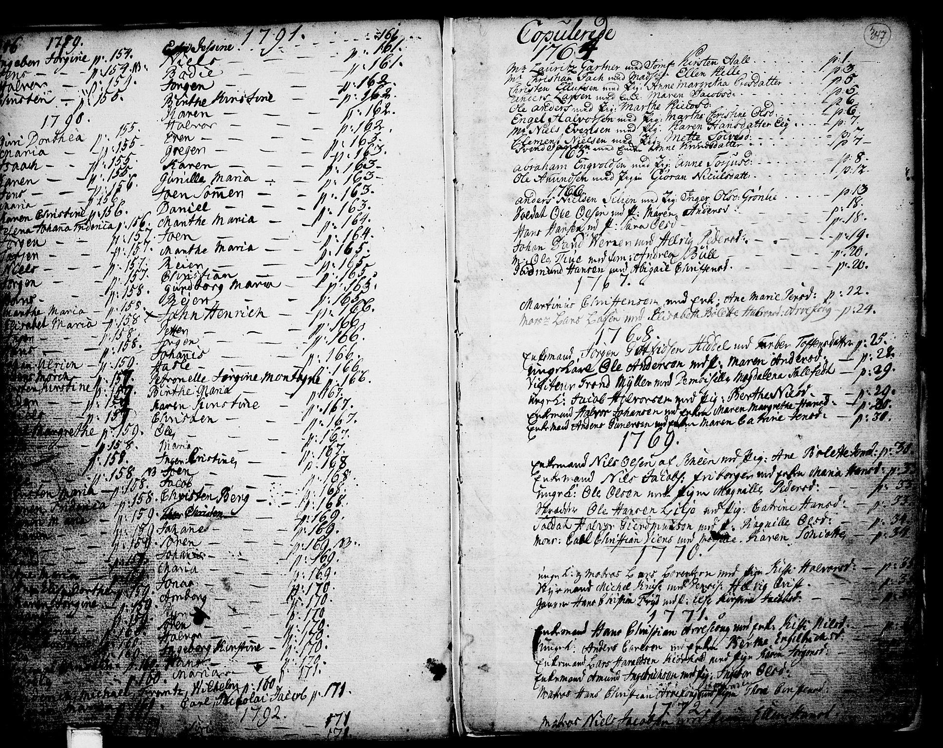 SAKO, Porsgrunn kirkebøker , F/Fa/L0002: Ministerialbok nr. 2, 1764-1814, s. 346-347