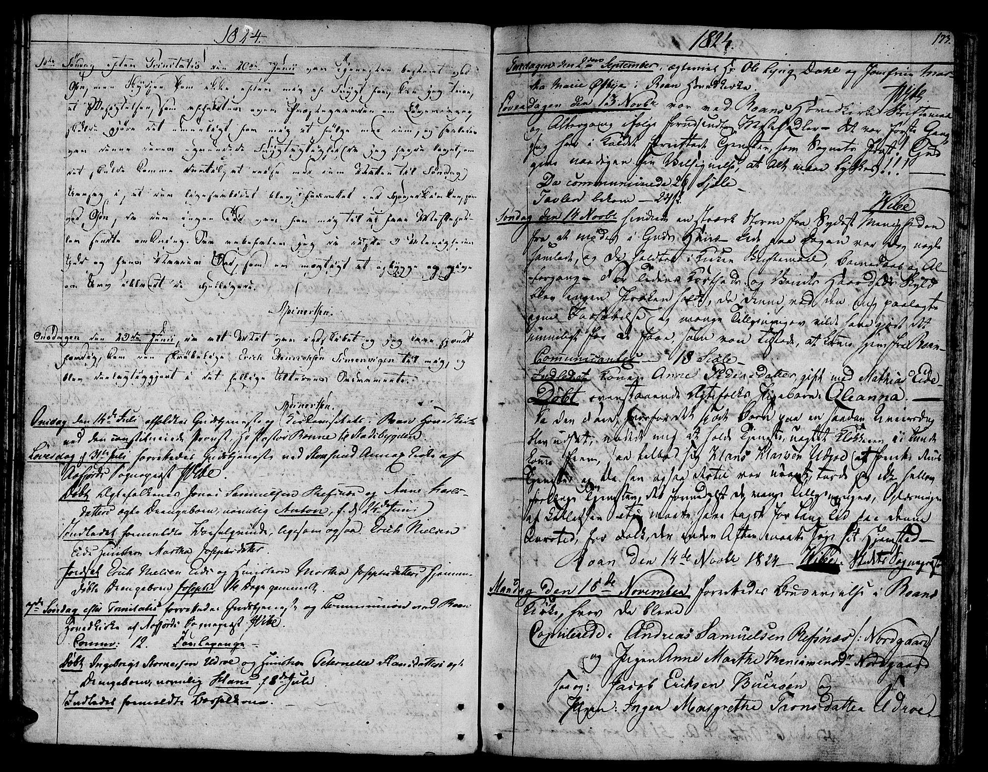 SAT, Ministerialprotokoller, klokkerbøker og fødselsregistre - Sør-Trøndelag, 657/L0701: Ministerialbok nr. 657A02, 1802-1831, s. 173