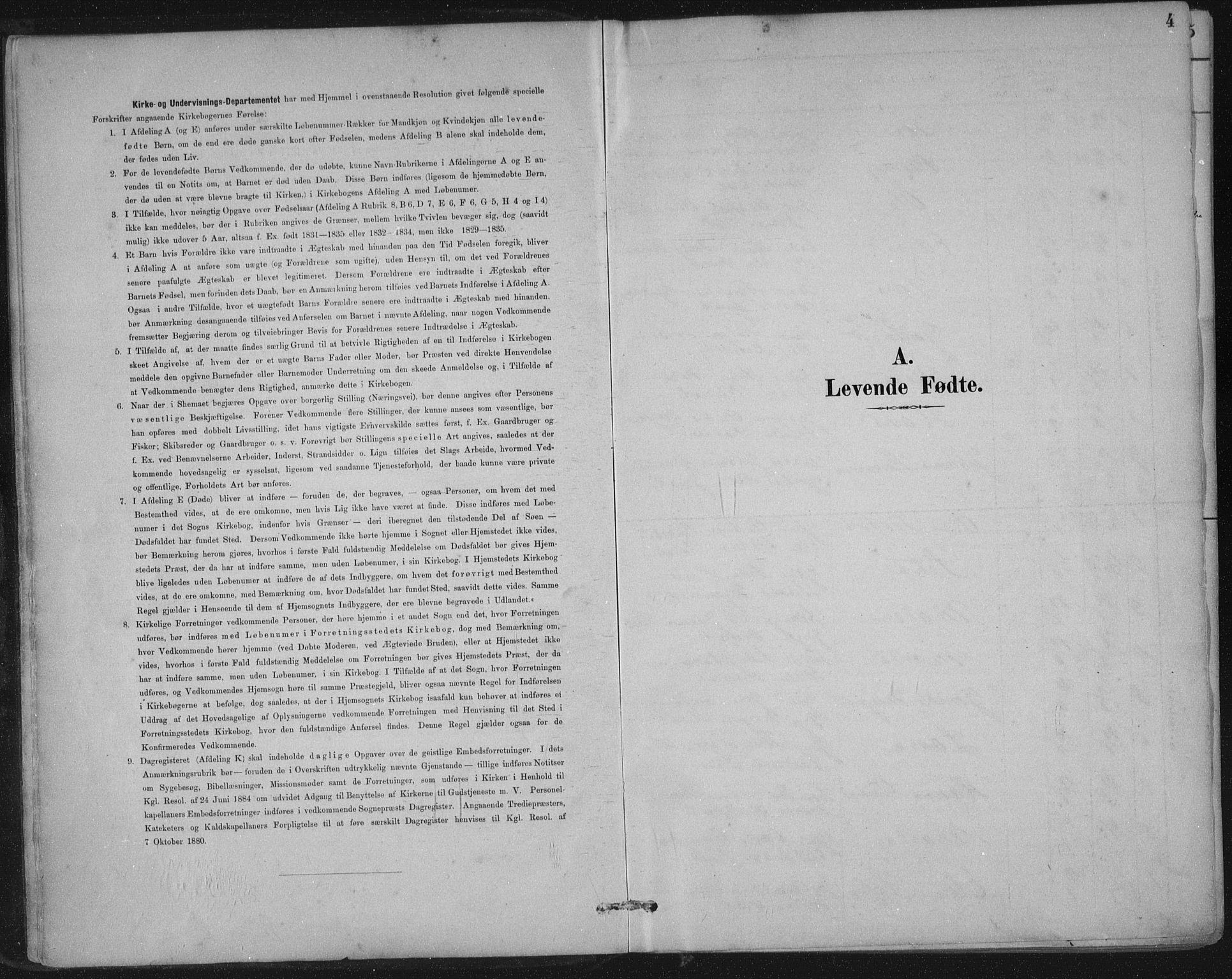 SAST, Nedstrand sokneprestkontor, IV: Ministerialbok nr. A 12, 1887-1915, s. 4