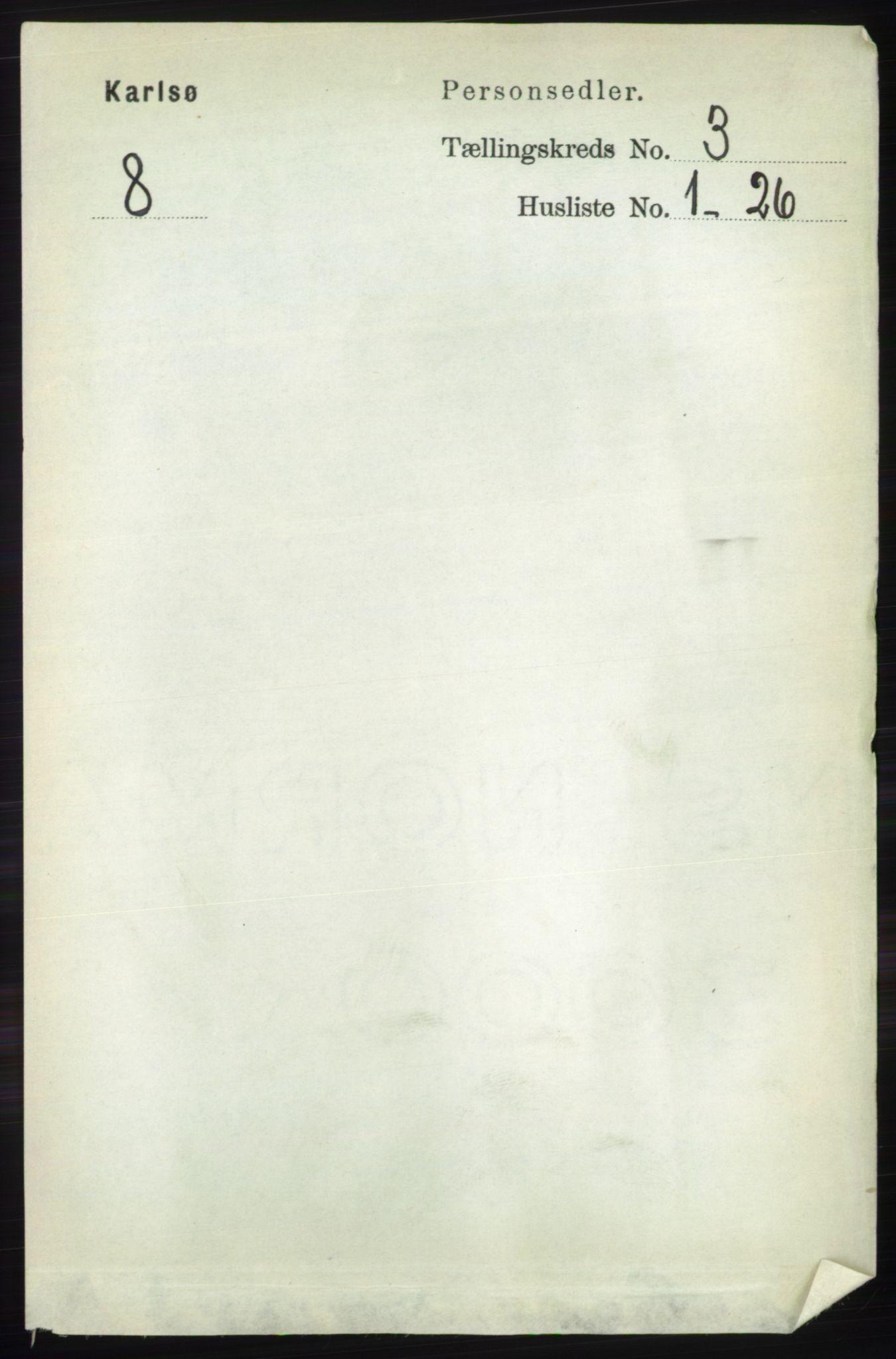 RA, Folketelling 1891 for 1936 Karlsøy herred, 1891, s. 606