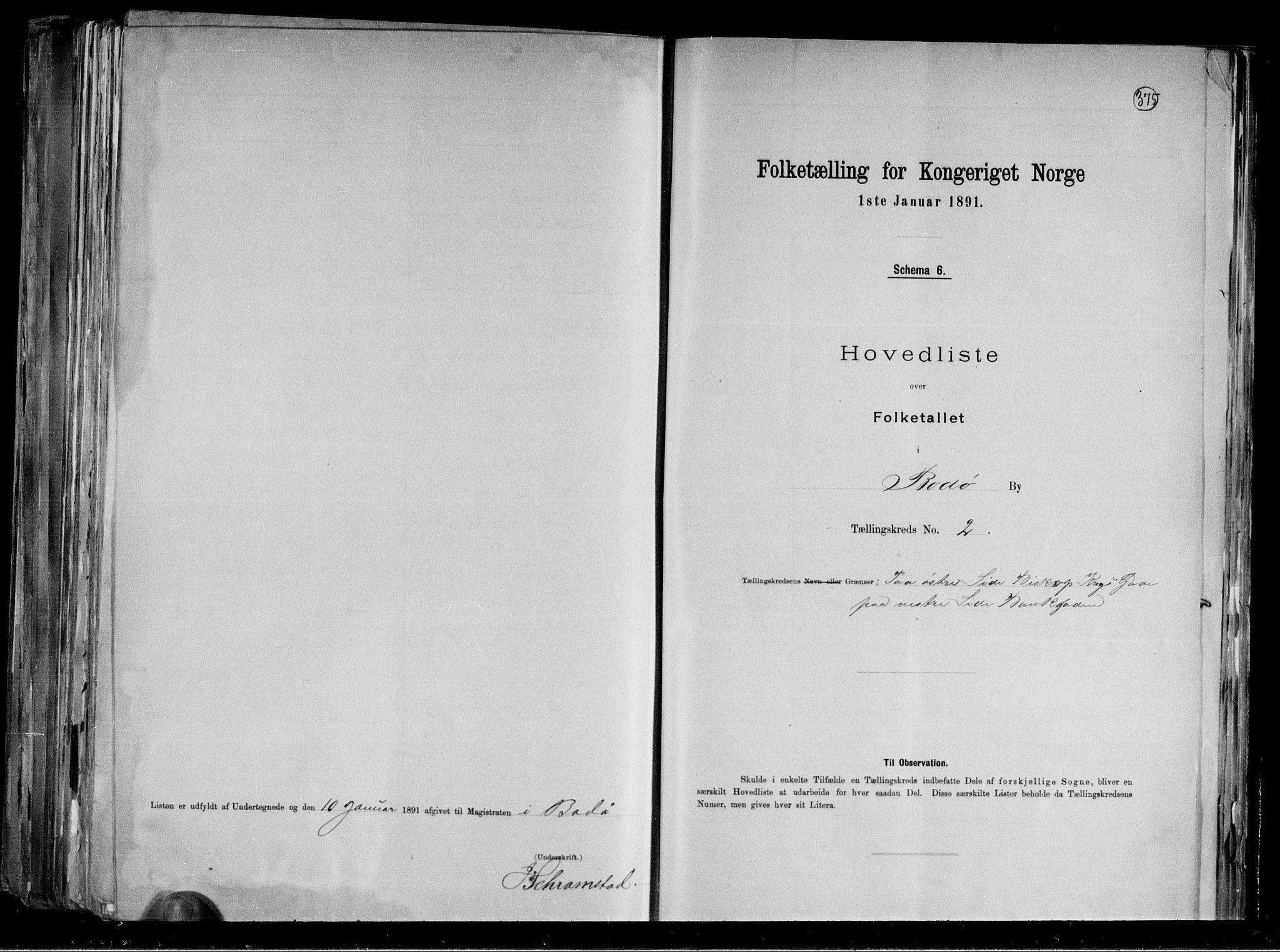 RA, Folketelling 1891 for 1804 Bodø kjøpstad, 1891, s. 8