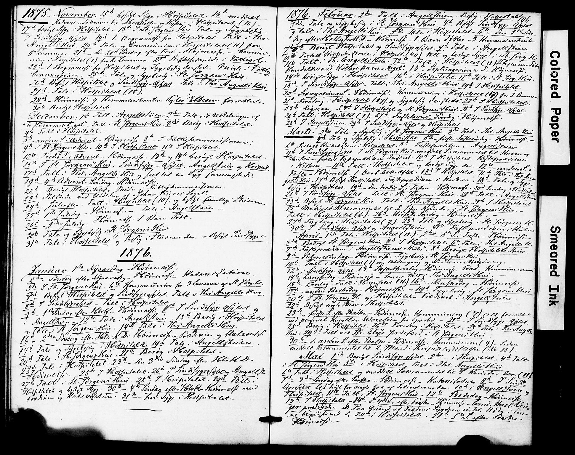 SAT, Ministerialprotokoller, klokkerbøker og fødselsregistre - Sør-Trøndelag, 623/L0469: Ministerialbok nr. 623A03, 1868-1883, s. 106