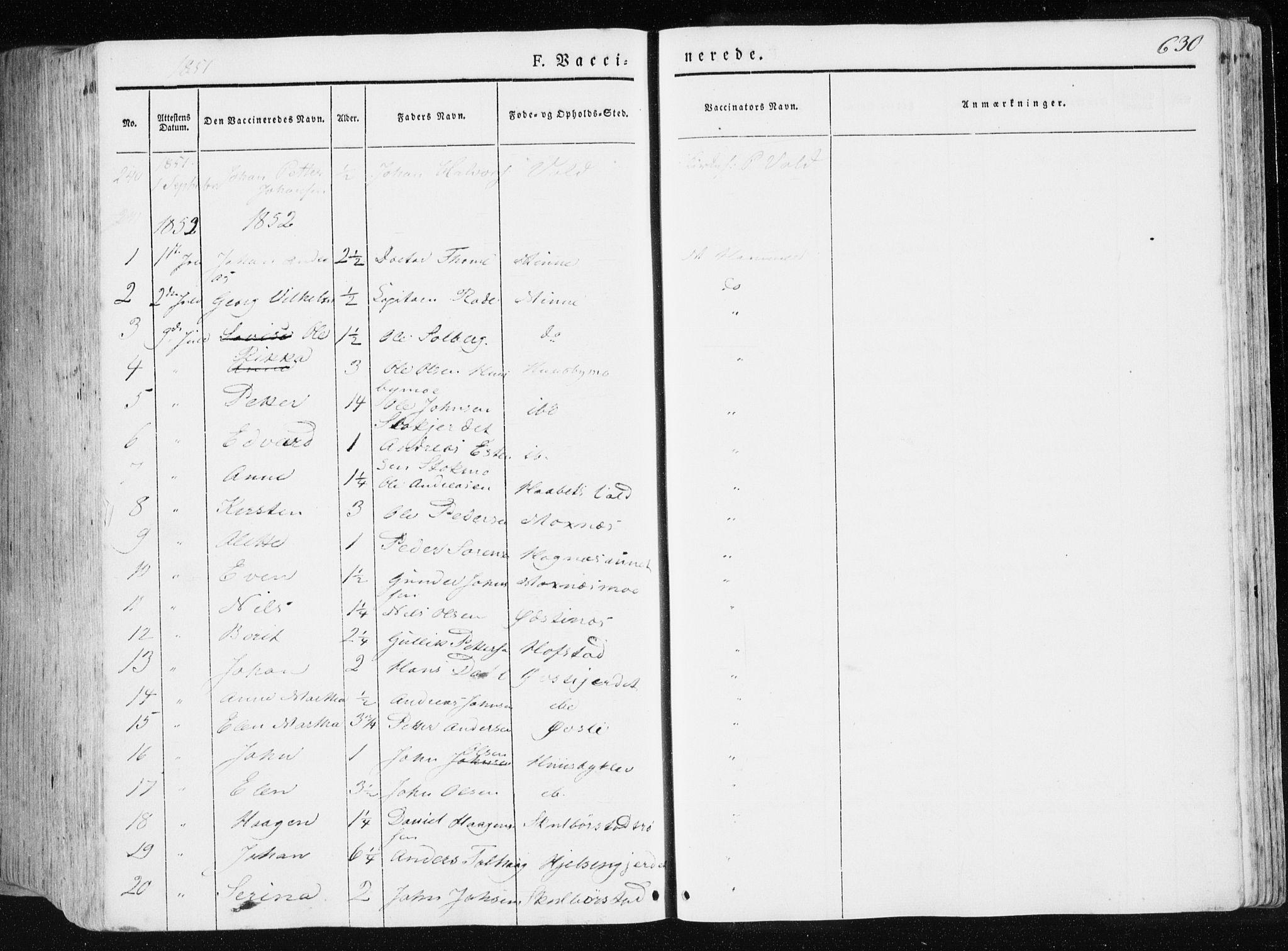 SAT, Ministerialprotokoller, klokkerbøker og fødselsregistre - Nord-Trøndelag, 709/L0074: Ministerialbok nr. 709A14, 1845-1858, s. 630