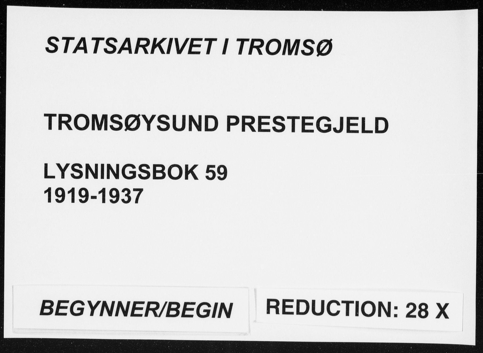 SATØ, Tromsøysund sokneprestkontor, H/Hc/L0059: Lysningsprotokoll nr. 59, 1919-1937