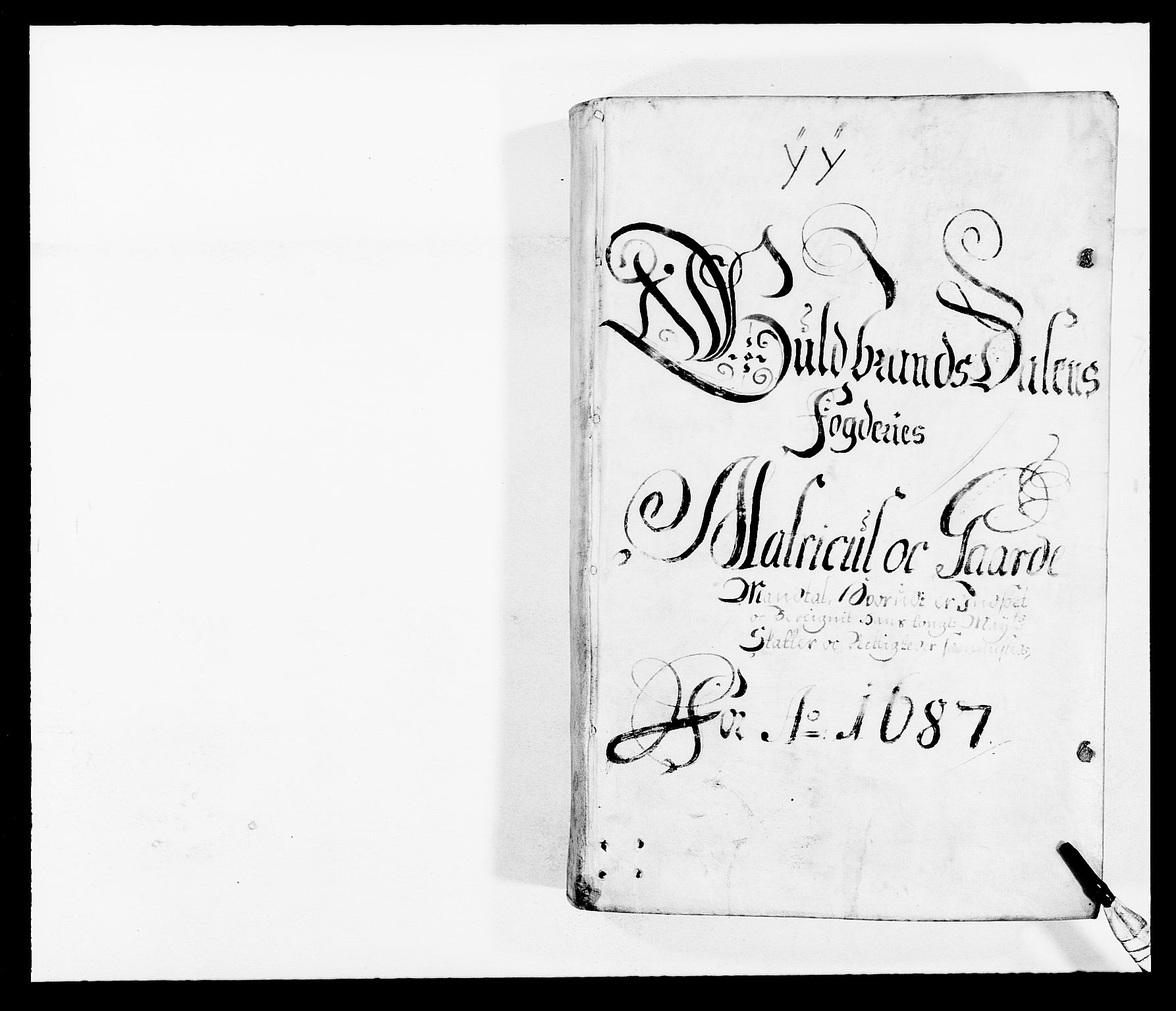 RA, Rentekammeret inntil 1814, Reviderte regnskaper, Fogderegnskap, R17/L1162: Fogderegnskap Gudbrandsdal, 1682-1689, s. 91