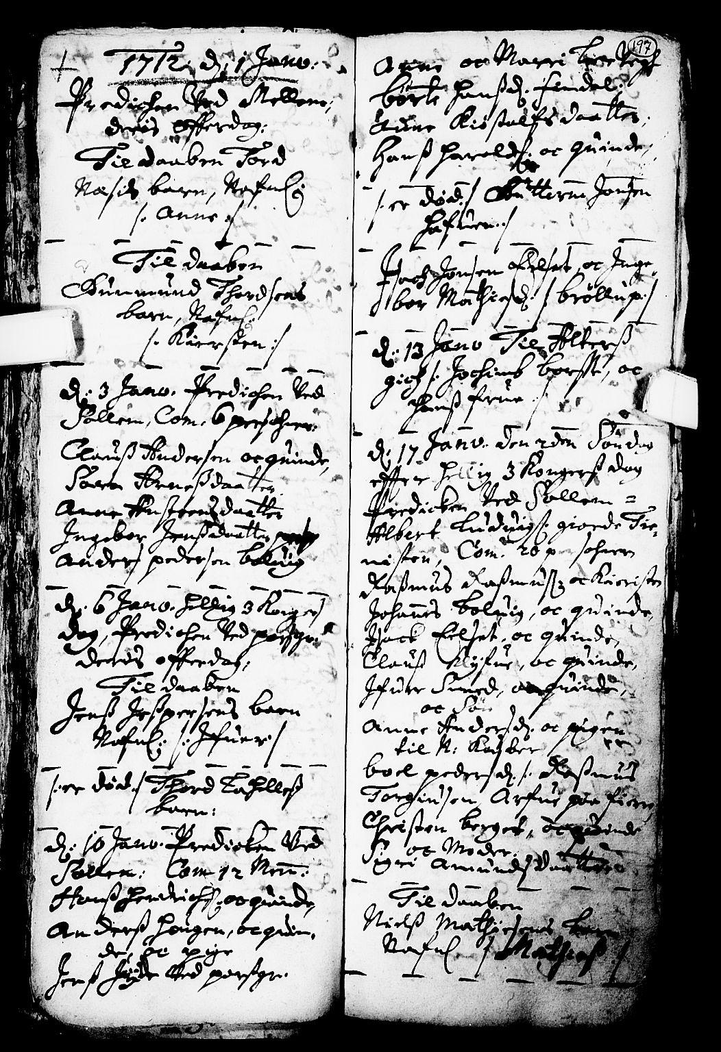 SAKO, Solum kirkebøker, F/Fa/L0001: Ministerialbok nr. I 1, 1701-1716, s. 197