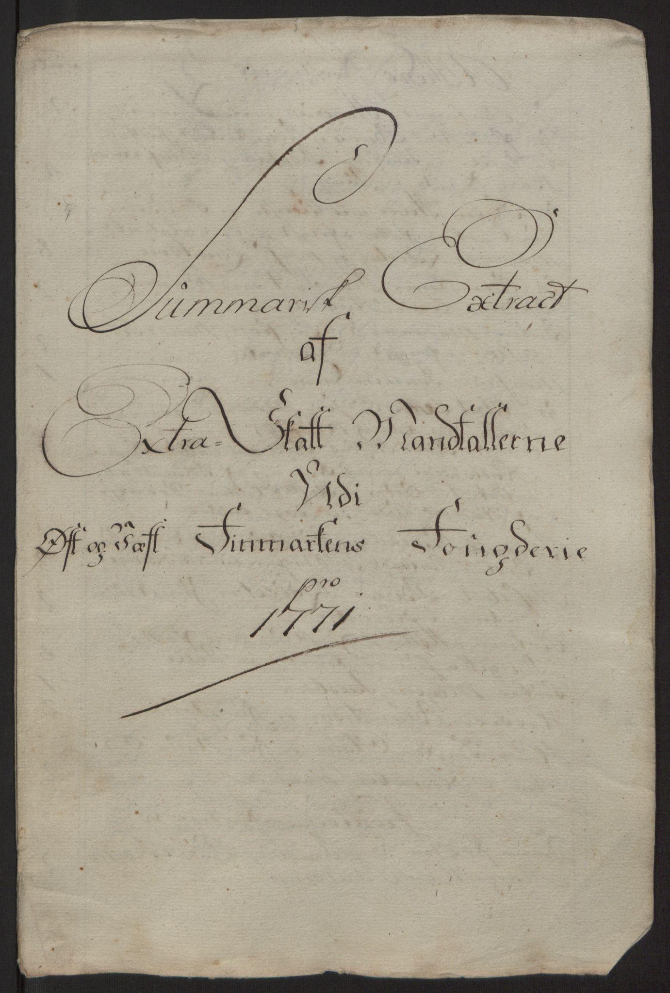 RA, Rentekammeret inntil 1814, Reviderte regnskaper, Fogderegnskap, R69/L4910: Ekstraskatten  Finnmark/Vardøhus, 1762-1772, s. 420
