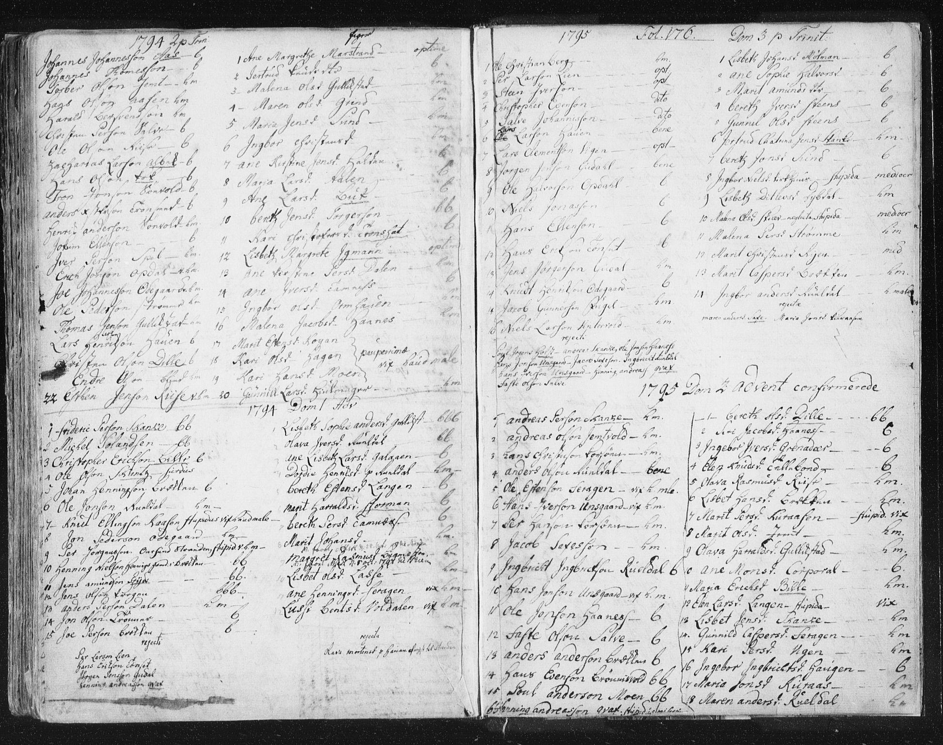 SAT, Ministerialprotokoller, klokkerbøker og fødselsregistre - Sør-Trøndelag, 681/L0926: Ministerialbok nr. 681A04, 1767-1797, s. 176
