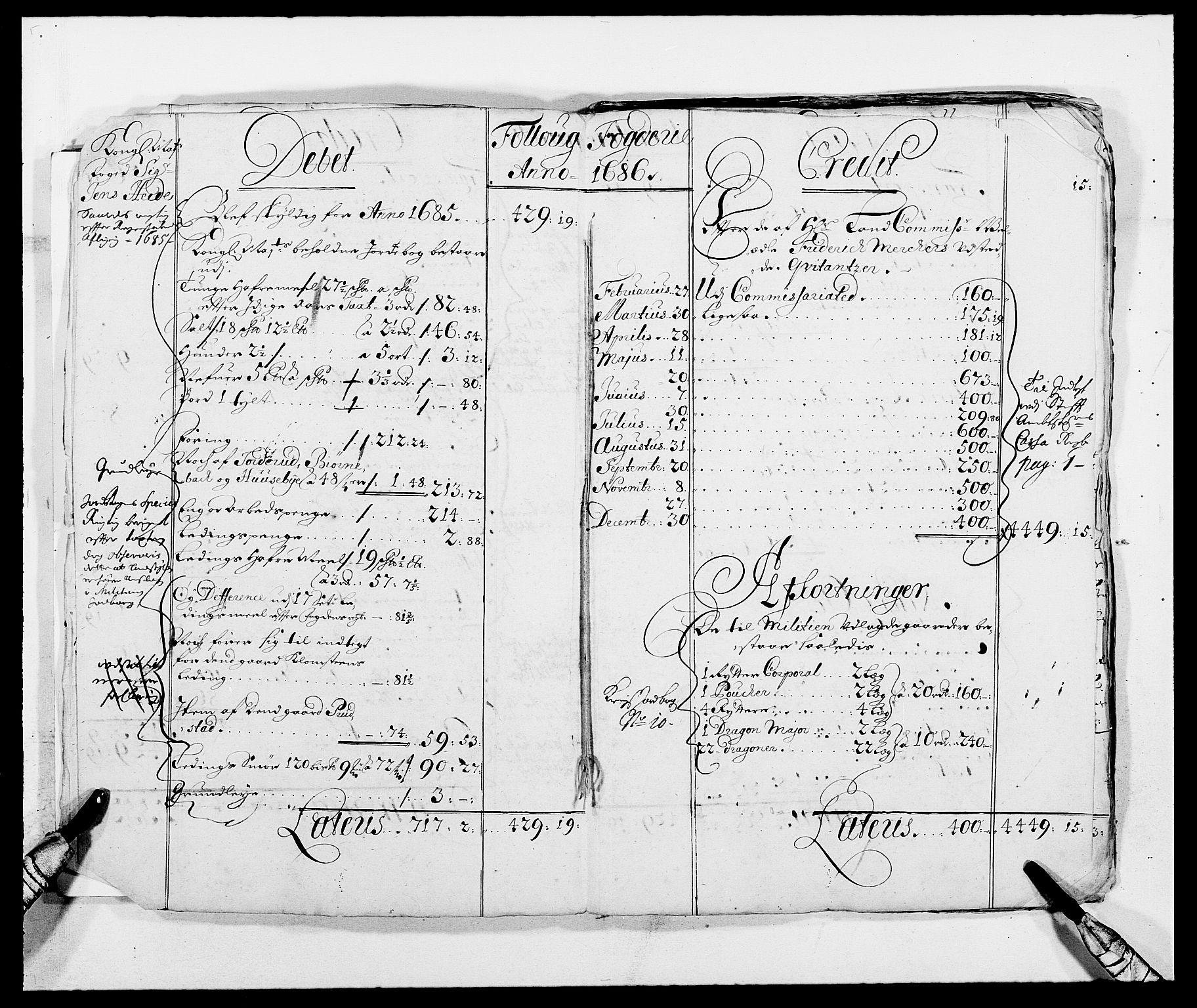 RA, Rentekammeret inntil 1814, Reviderte regnskaper, Fogderegnskap, R09/L0436: Fogderegnskap Follo, 1685-1691, s. 7