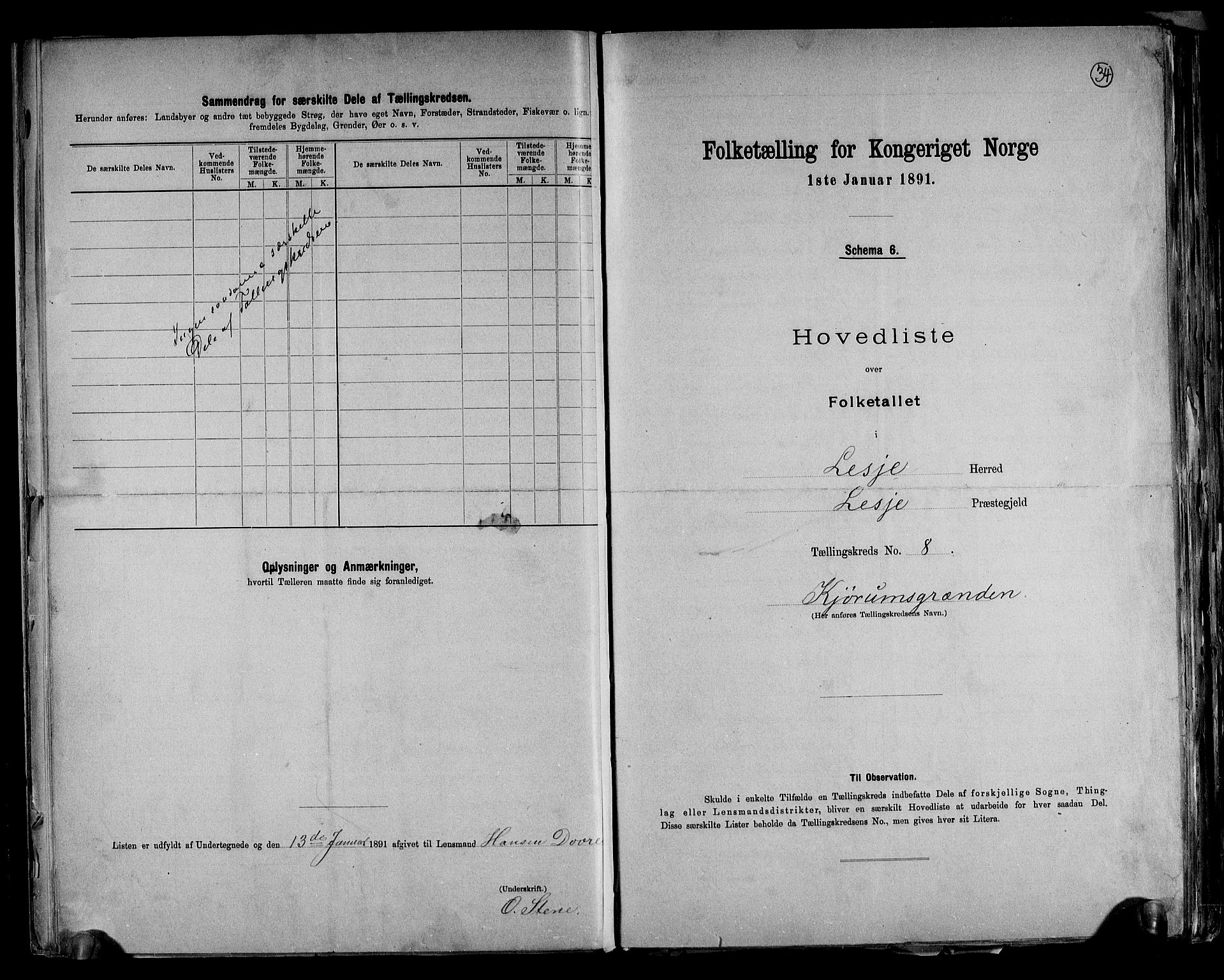 RA, Folketelling 1891 for 0512 Lesja herred, 1891, s. 19