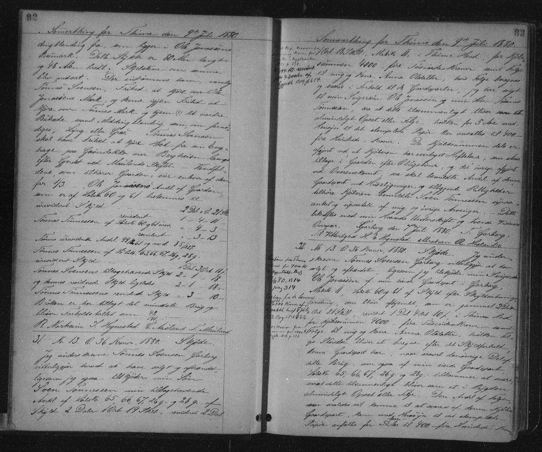 SAST, Jæren sorenskriveri, 4/41/41BF/L0007: Pantebok nr. 14, 1880-1882, s. 82-83