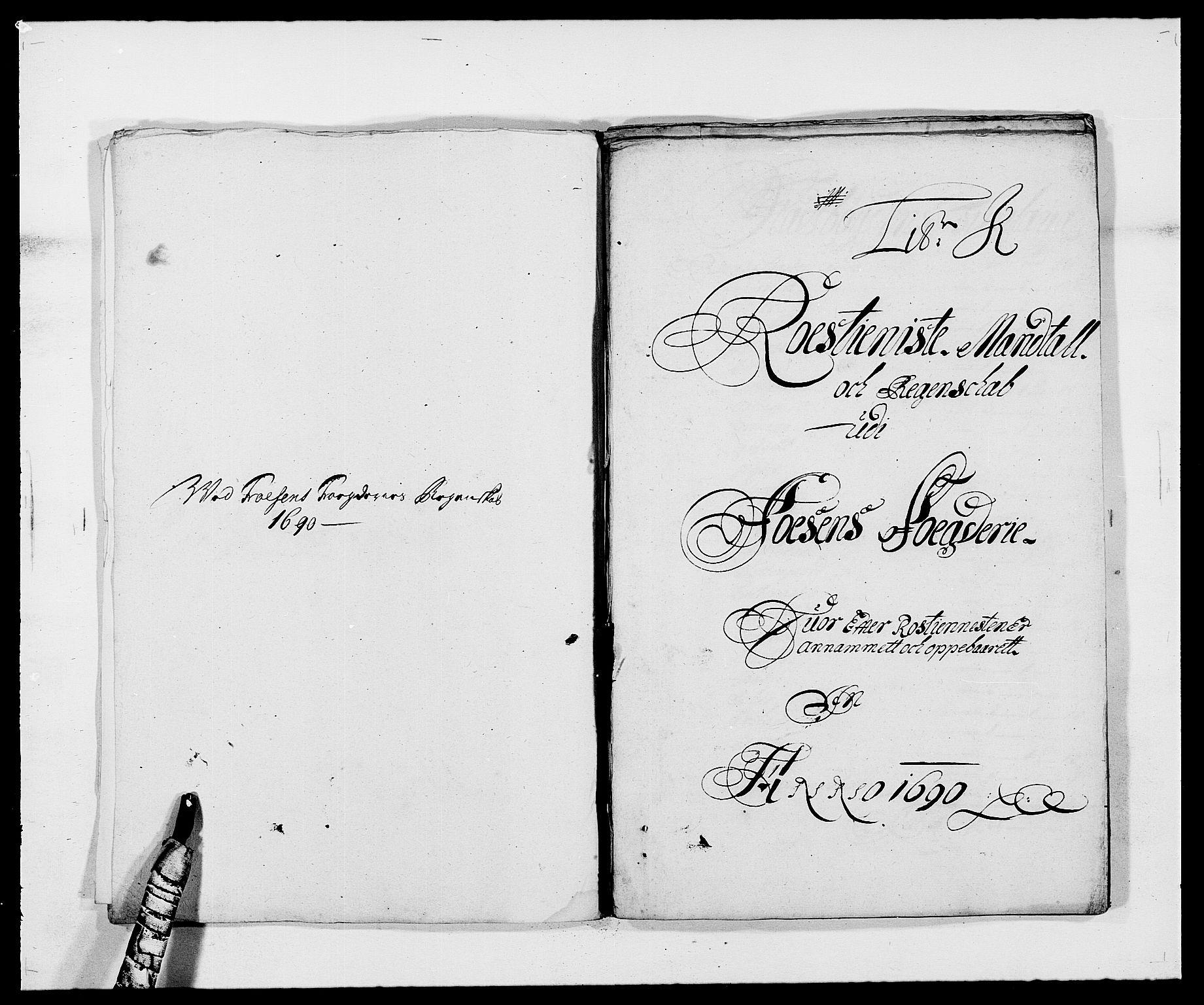 RA, Rentekammeret inntil 1814, Reviderte regnskaper, Fogderegnskap, R57/L3848: Fogderegnskap Fosen, 1690-1691, s. 143