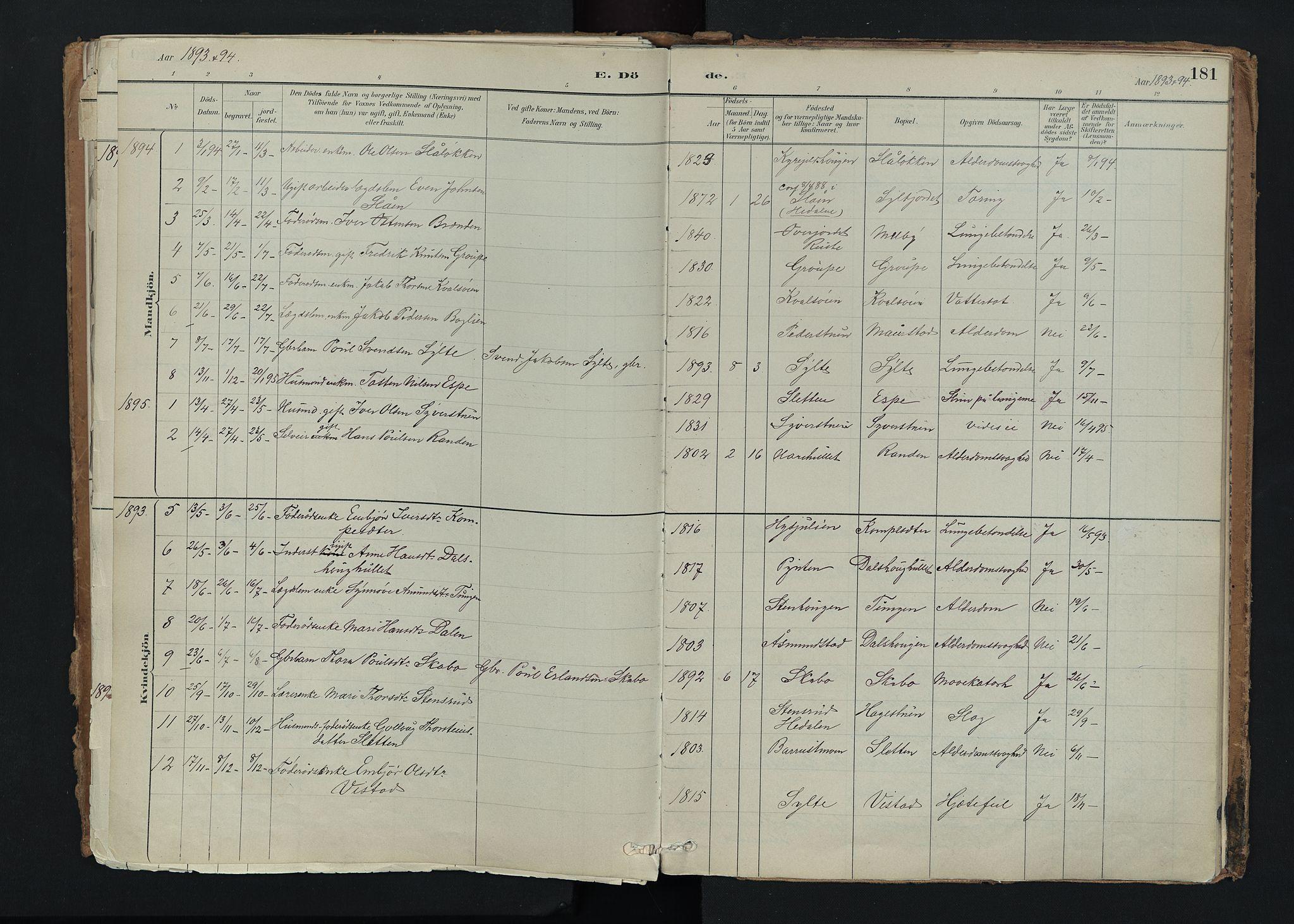 SAH, Nord-Fron prestekontor, Ministerialbok nr. 5, 1884-1914, s. 181
