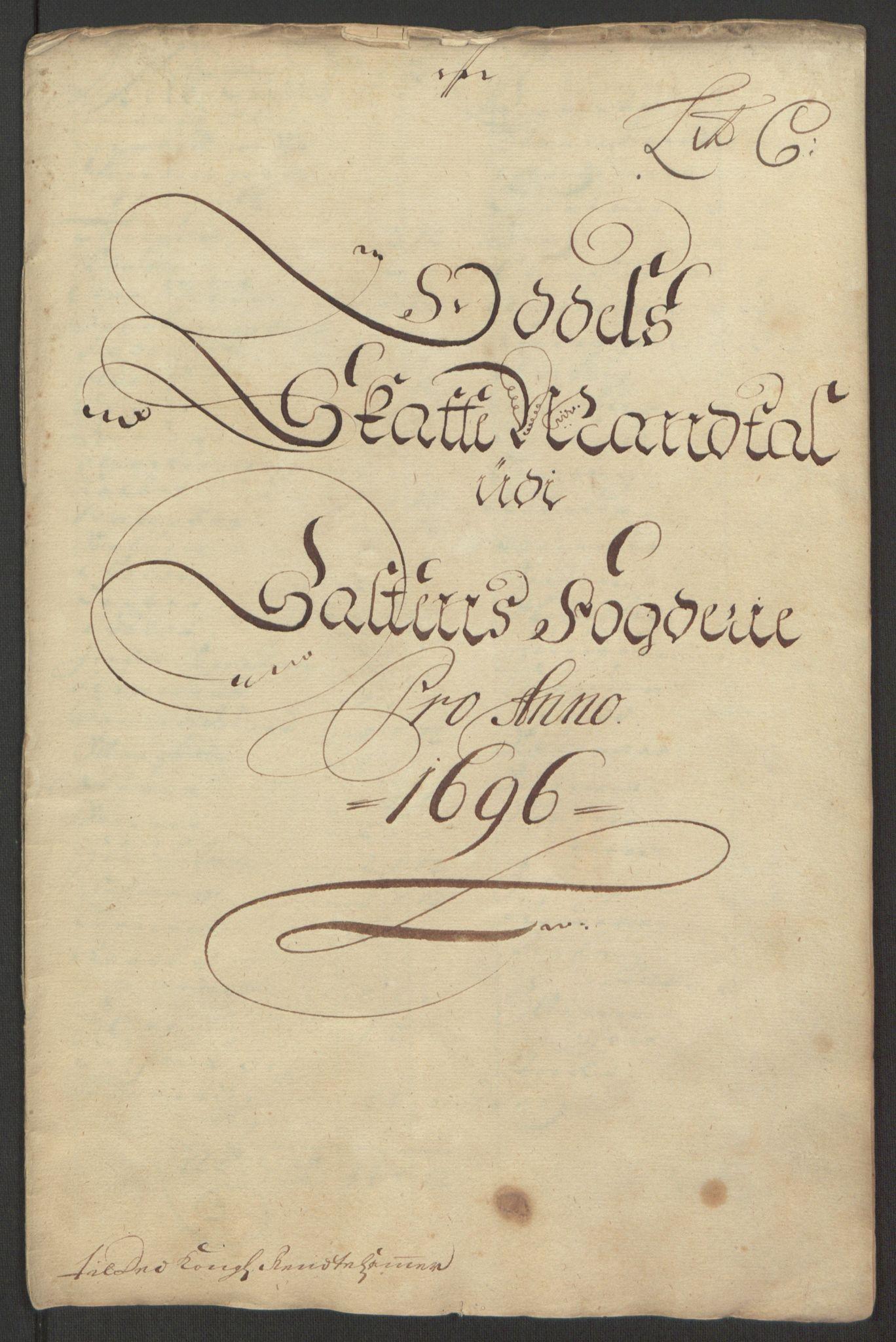 RA, Rentekammeret inntil 1814, Reviderte regnskaper, Fogderegnskap, R66/L4578: Fogderegnskap Salten, 1694-1696, s. 236