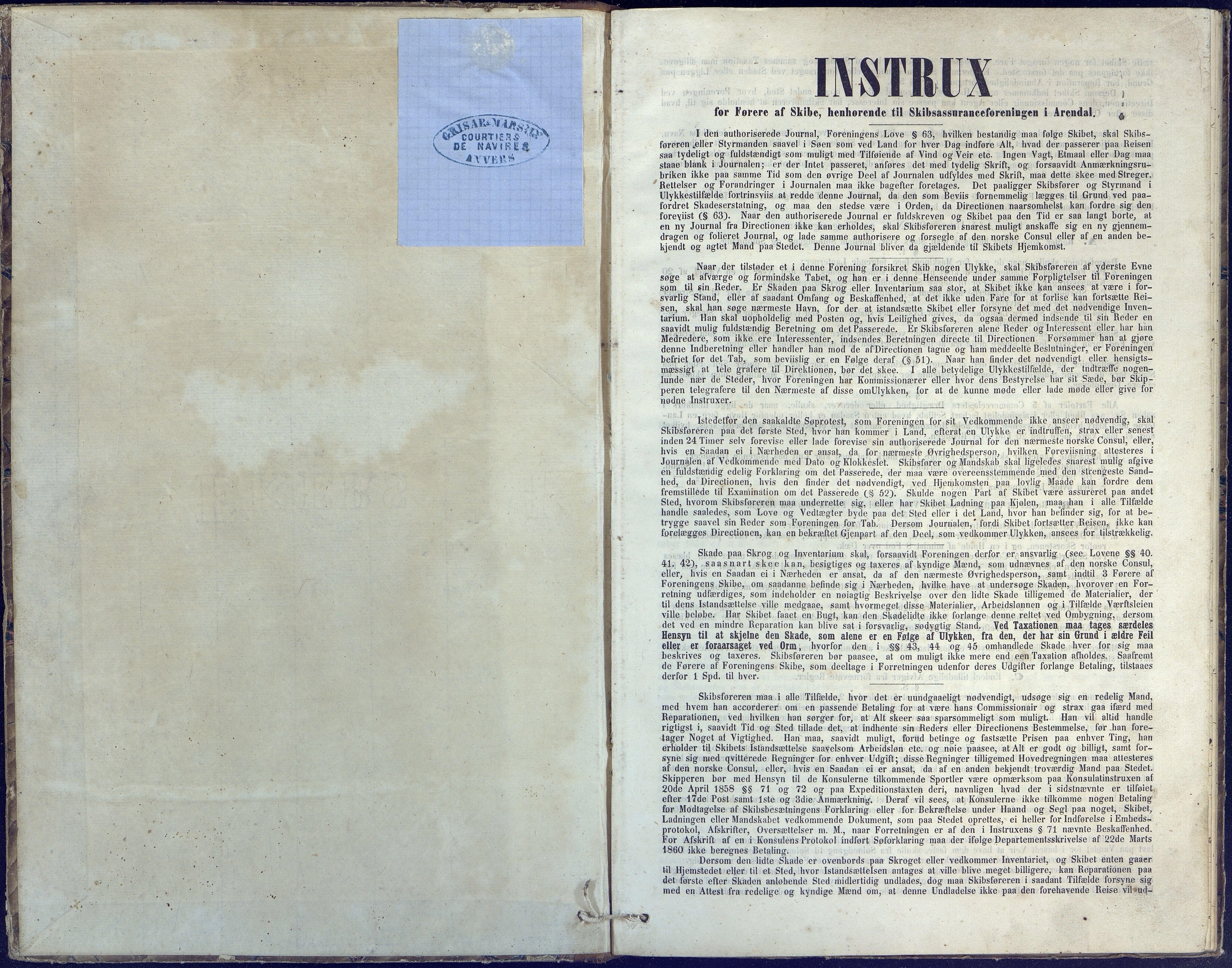 AAKS, Fartøysarkivet, F/L0041: Flere fartøy (se mappenivå), 1840-1871