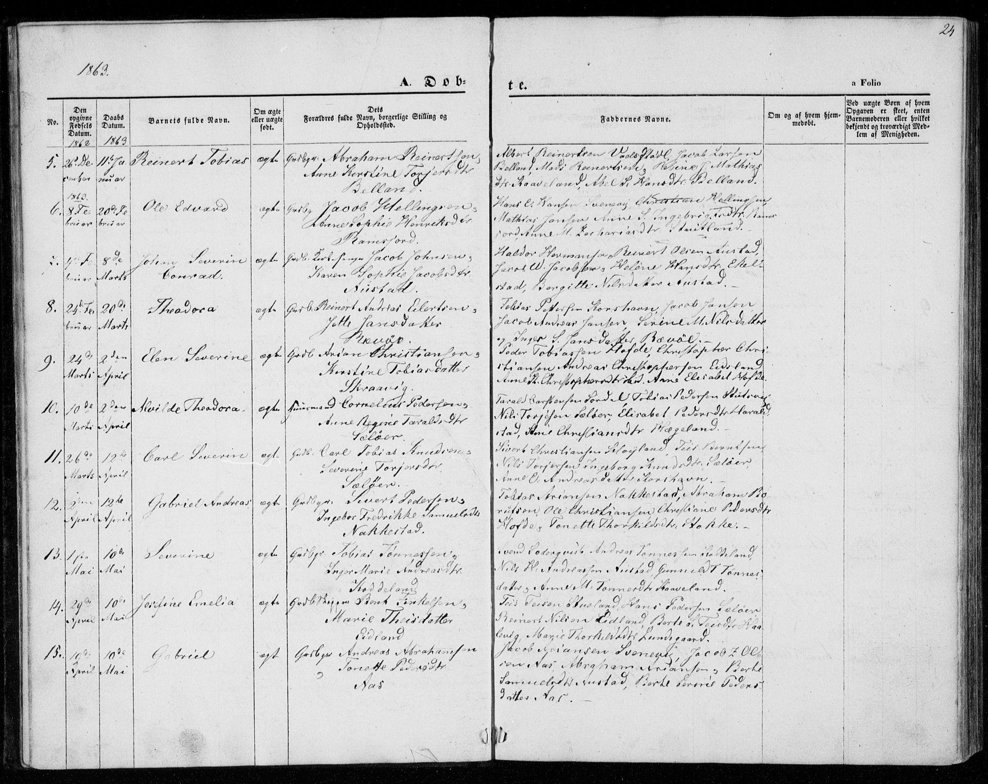 SAK, Lyngdal sokneprestkontor, F/Fa/Faa/L0002: Ministerialbok nr. A 2, 1858-1870, s. 24