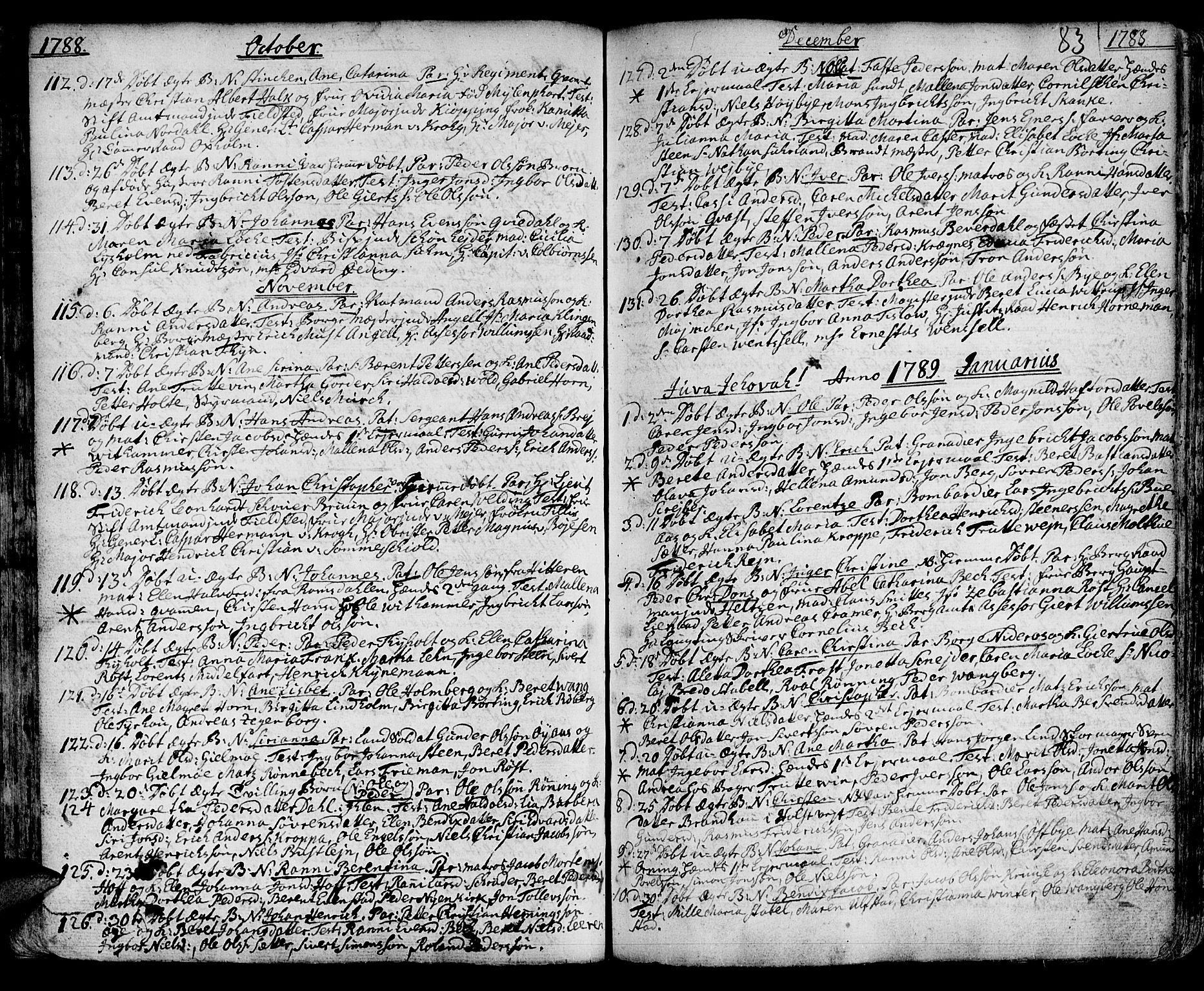 SAT, Ministerialprotokoller, klokkerbøker og fødselsregistre - Sør-Trøndelag, 601/L0039: Ministerialbok nr. 601A07, 1770-1819, s. 83