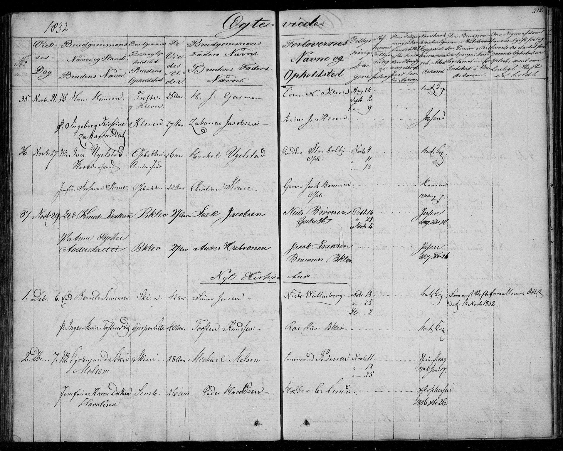 SAKO, Gjerpen kirkebøker, F/Fa/L0006: Ministerialbok nr. 6, 1829-1834, s. 212