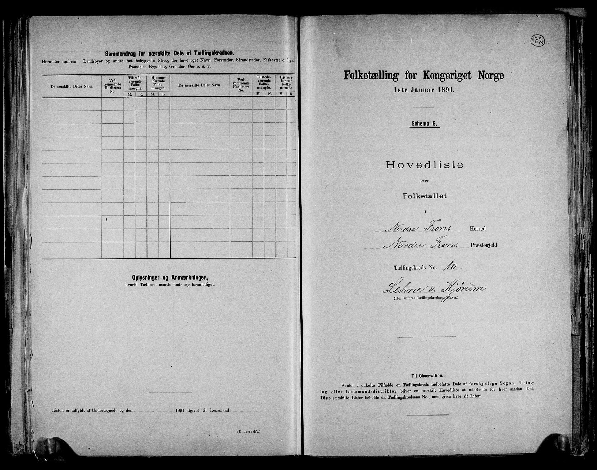 RA, Folketelling 1891 for 0518 Nord-Fron herred, 1891, s. 27