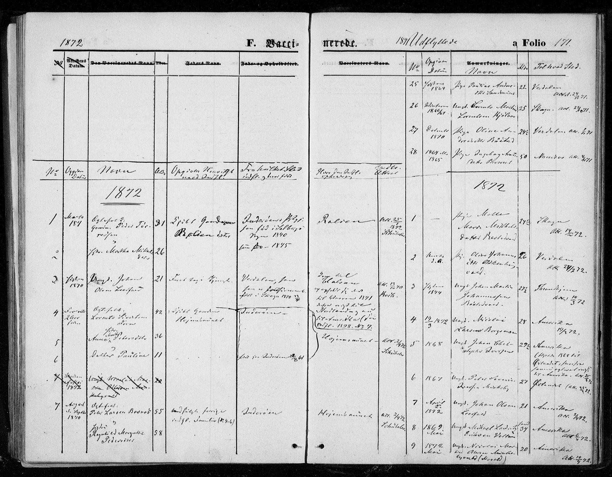SAT, Ministerialprotokoller, klokkerbøker og fødselsregistre - Nord-Trøndelag, 721/L0206: Ministerialbok nr. 721A01, 1864-1874, s. 171