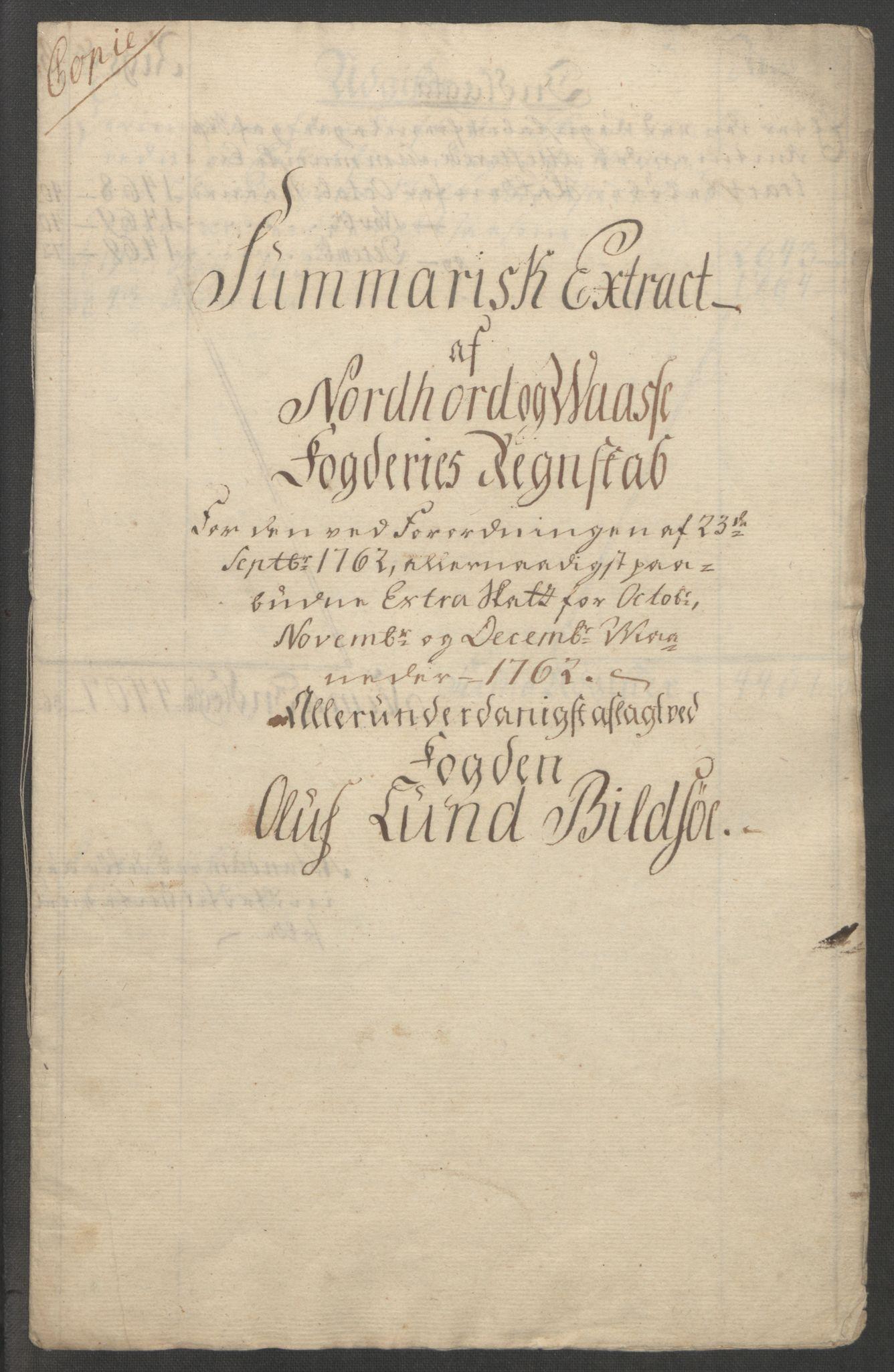 RA, Rentekammeret inntil 1814, Reviderte regnskaper, Fogderegnskap, R51/L3303: Ekstraskatten Nordhordland og Voss, 1762-1772, s. 7
