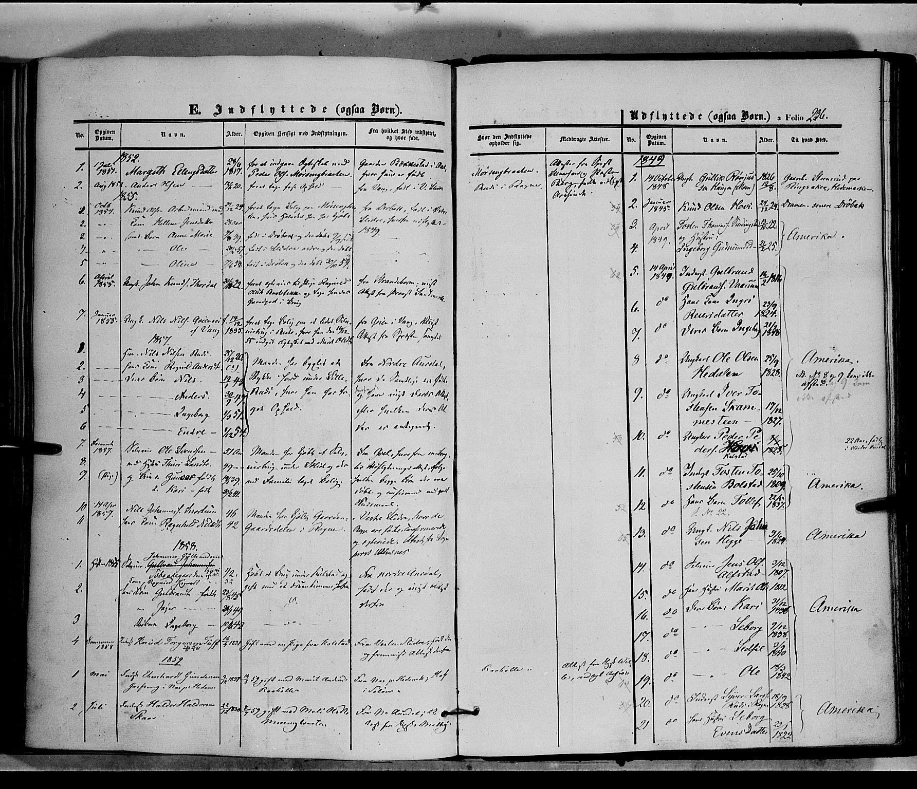 SAH, Øystre Slidre prestekontor, Ministerialbok nr. 1, 1849-1874, s. 236