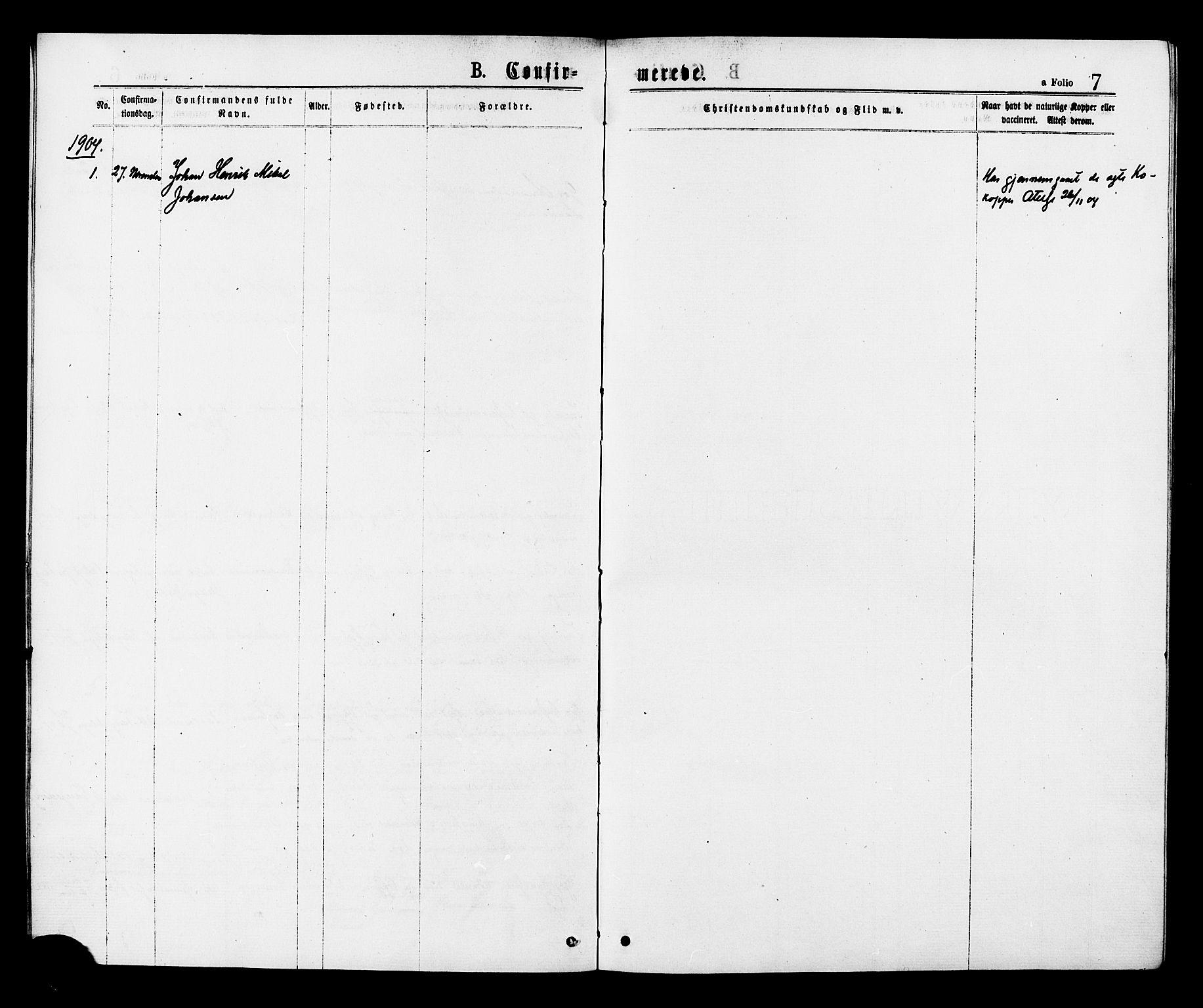 SAT, Ministerialprotokoller, klokkerbøker og fødselsregistre - Sør-Trøndelag, 624/L0482: Ministerialbok nr. 624A03, 1870-1918, s. 7