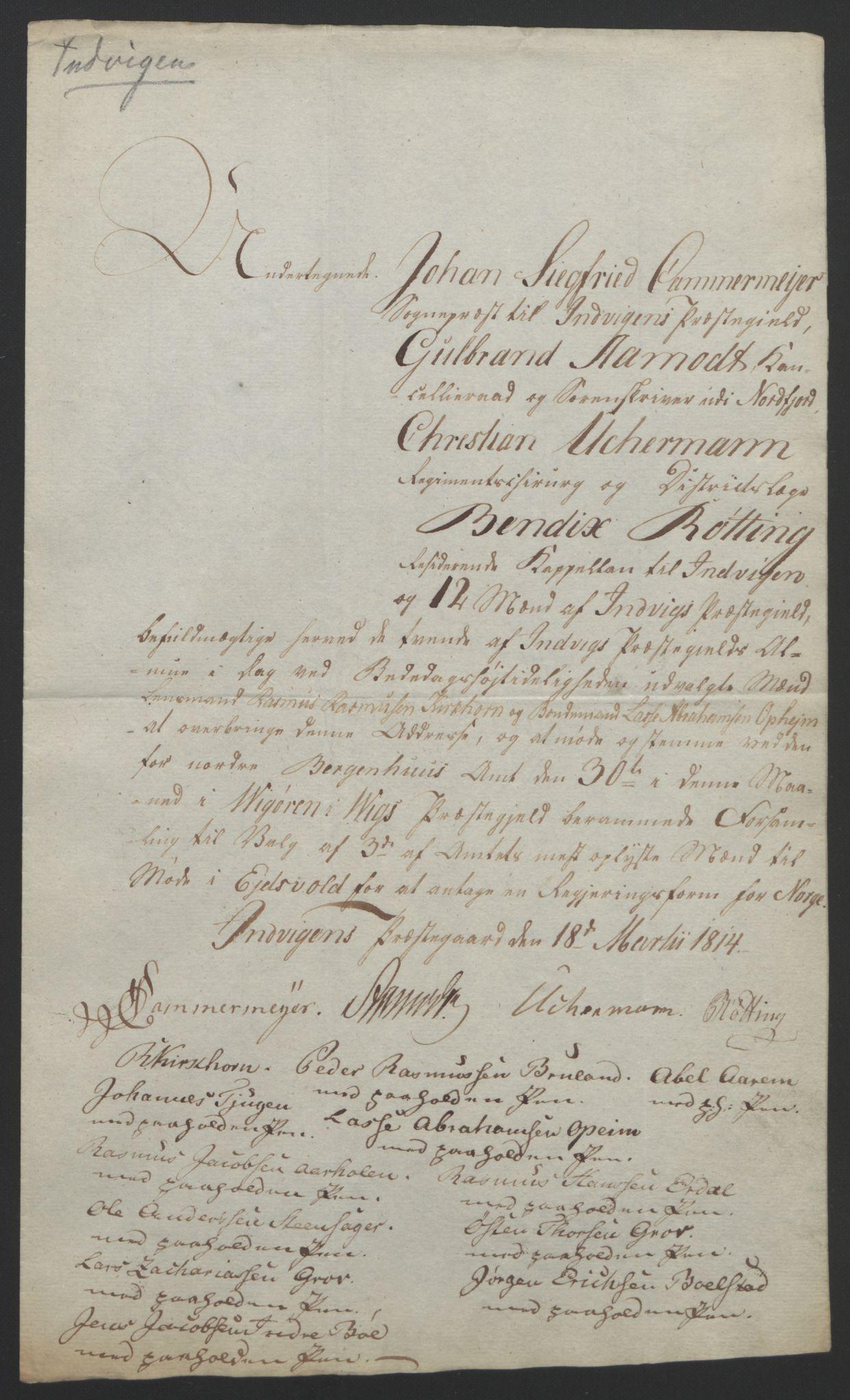 RA, Statsrådssekretariatet, D/Db/L0008: Fullmakter for Eidsvollsrepresentantene i 1814. , 1814, s. 328