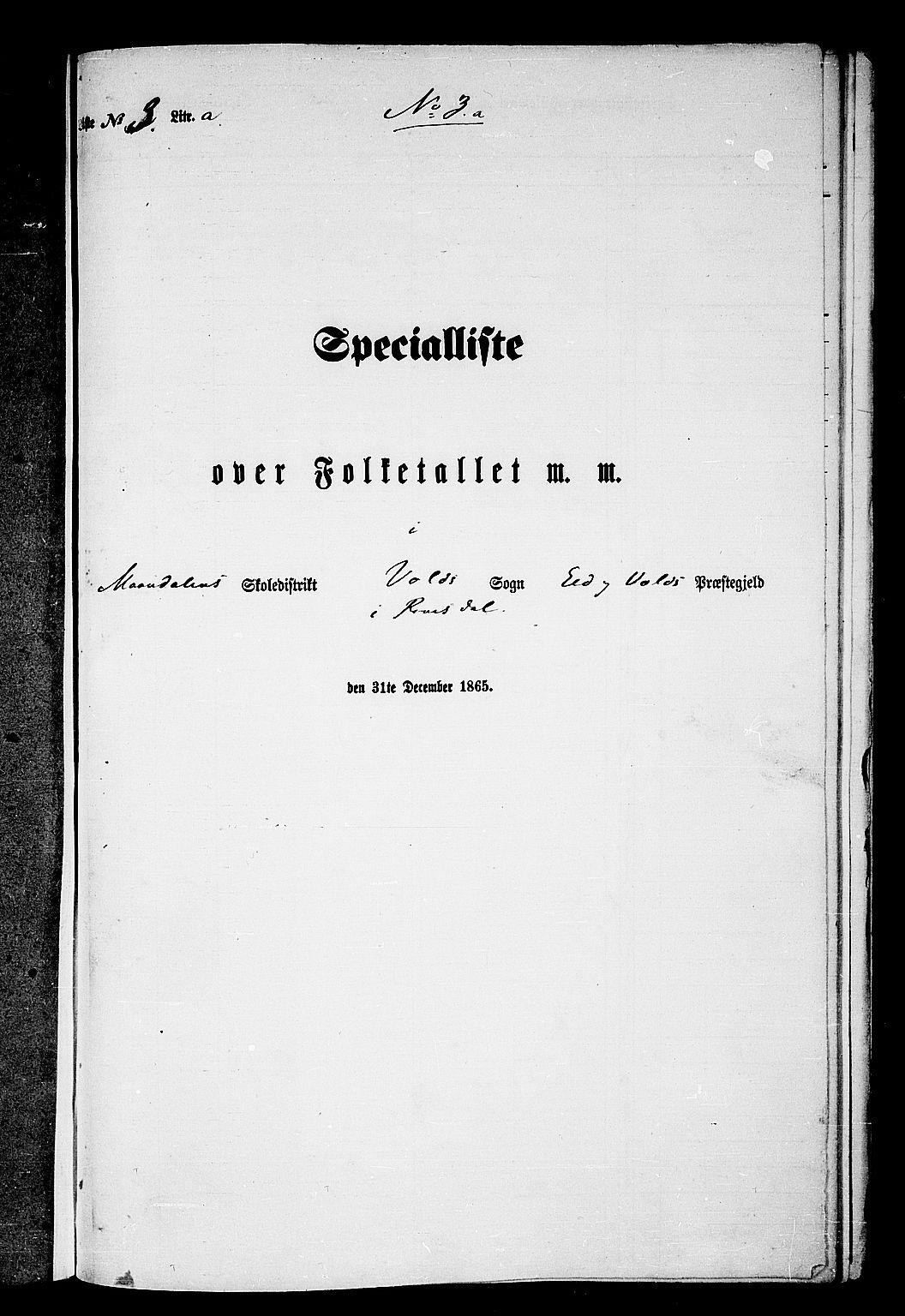 RA, Folketelling 1865 for 1537P Eid og Vold prestegjeld, 1865, s. 49