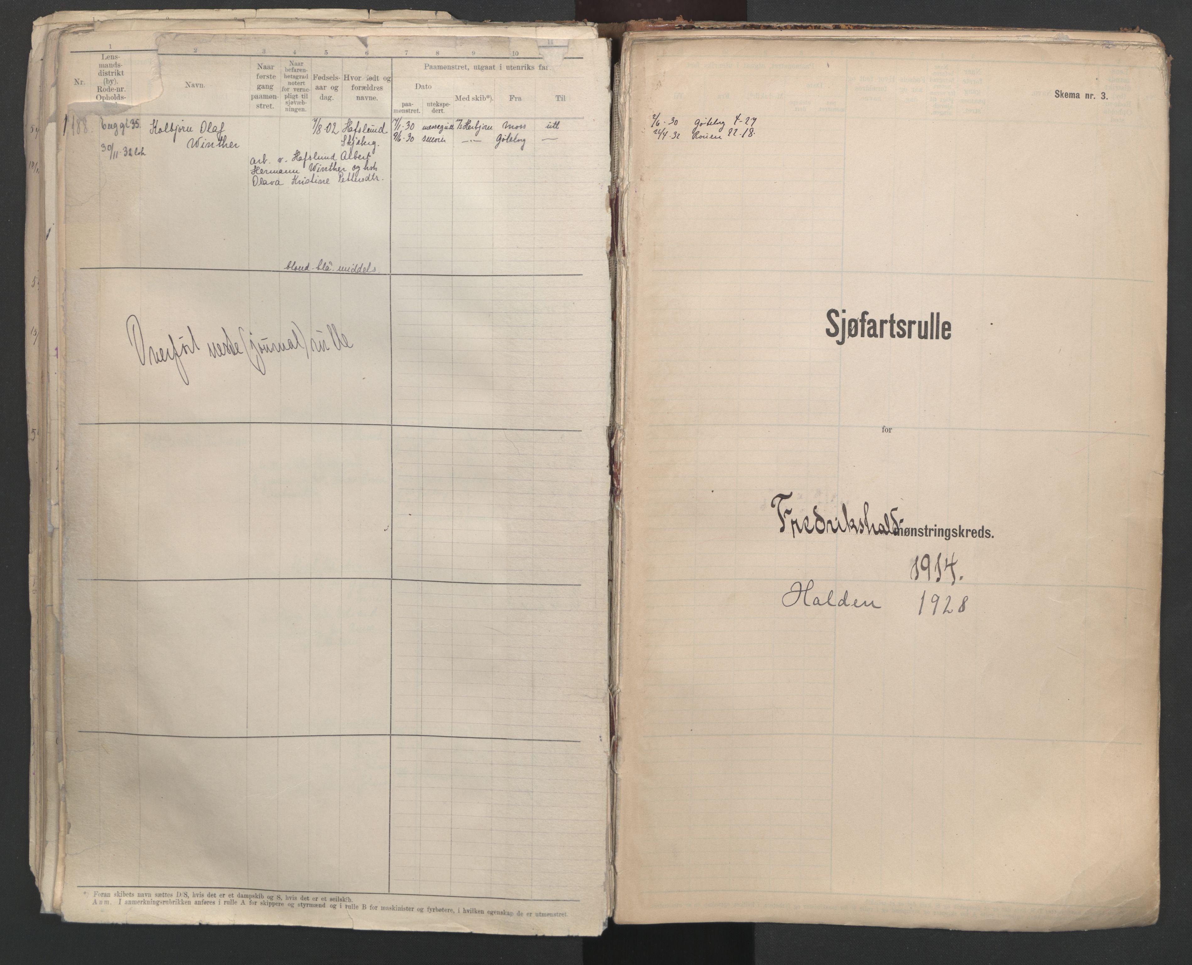 SAO, Oslo sjømannskontor, F/Fd/L0007: B-rulle, 1914, s. 172