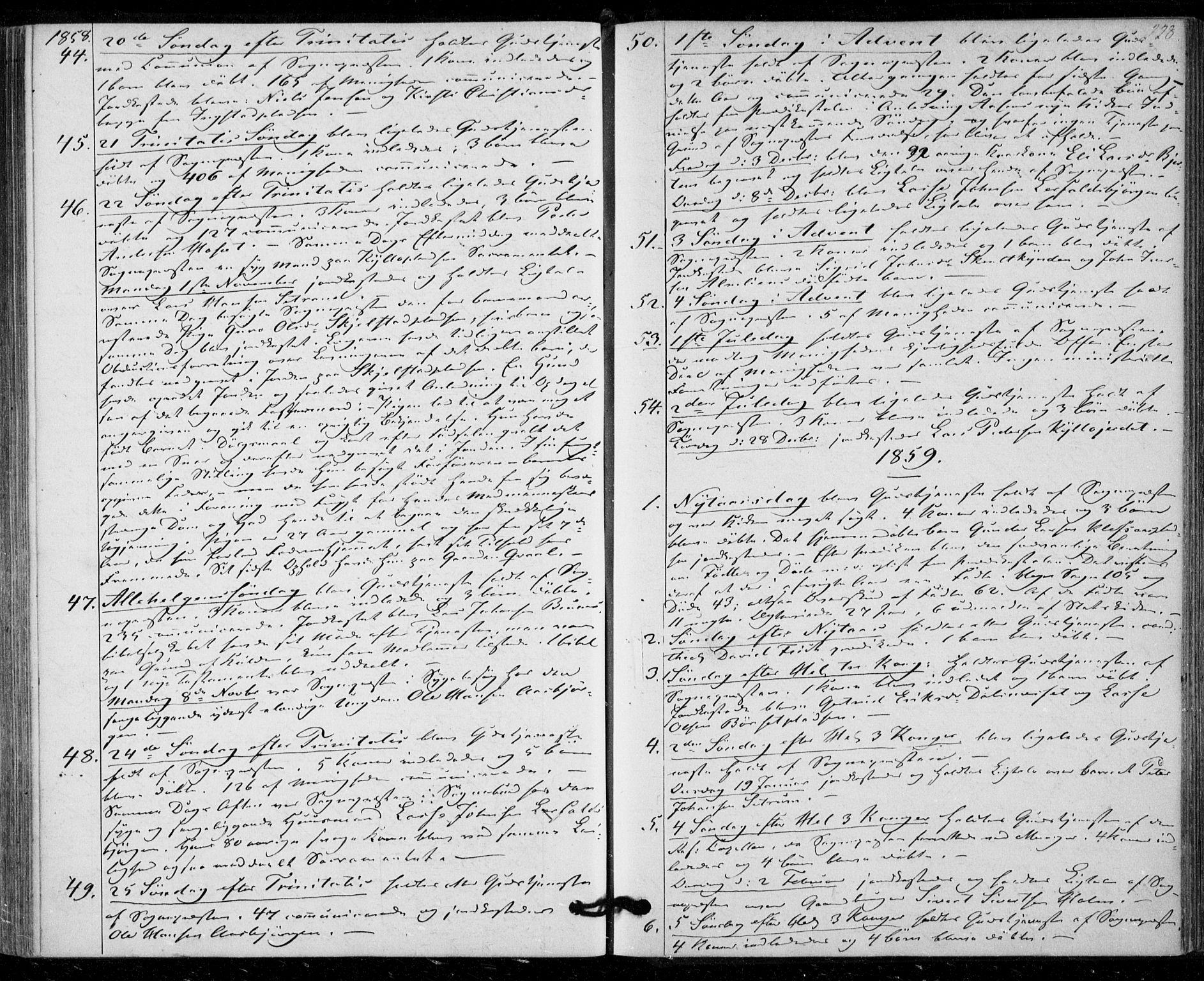 SAT, Ministerialprotokoller, klokkerbøker og fødselsregistre - Nord-Trøndelag, 703/L0028: Ministerialbok nr. 703A01, 1850-1862, s. 228