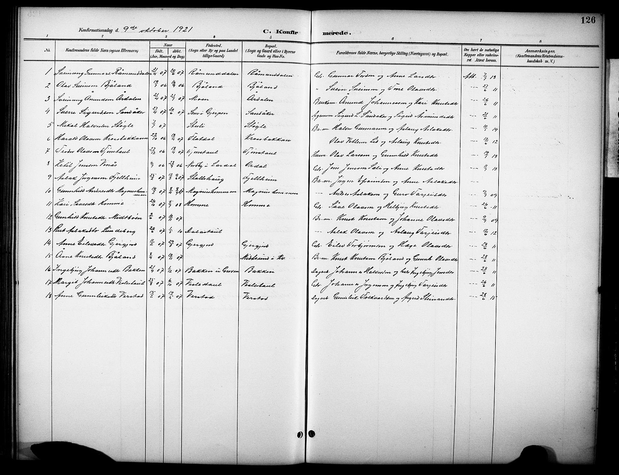 SAKO, Kviteseid kirkebøker, G/Gb/L0003: Klokkerbok nr. II 3, 1893-1933, s. 126