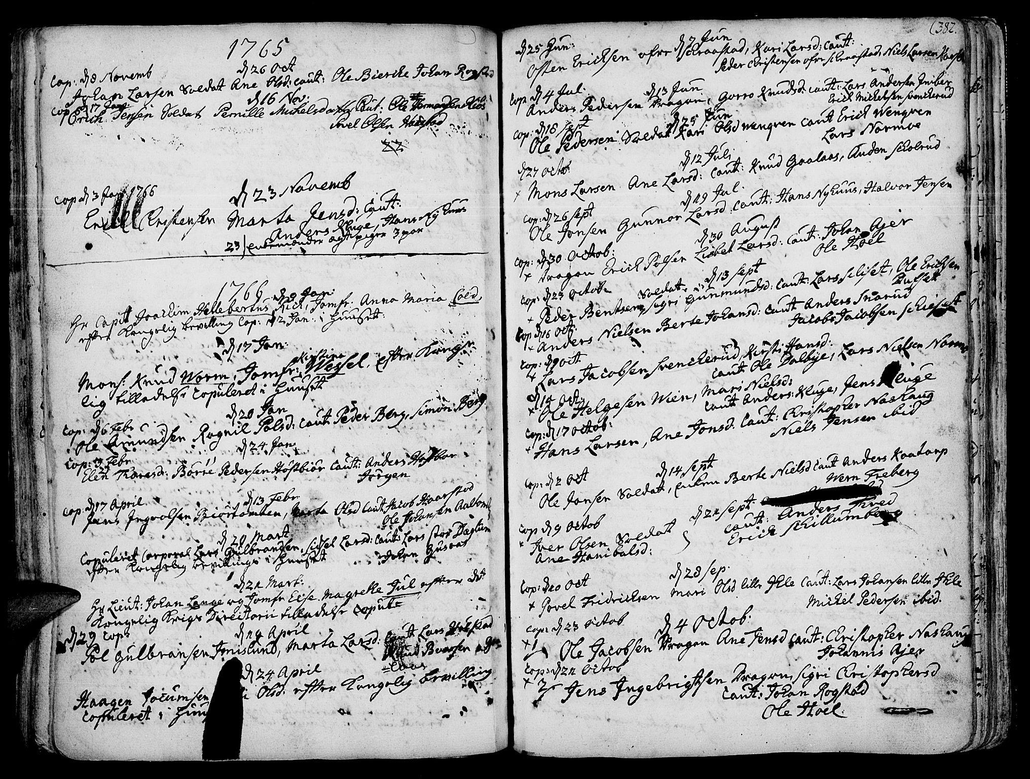 SAH, Vang prestekontor, Hedmark, H/Ha/Haa/L0003: Ministerialbok nr. 3, 1734-1809, s. 382